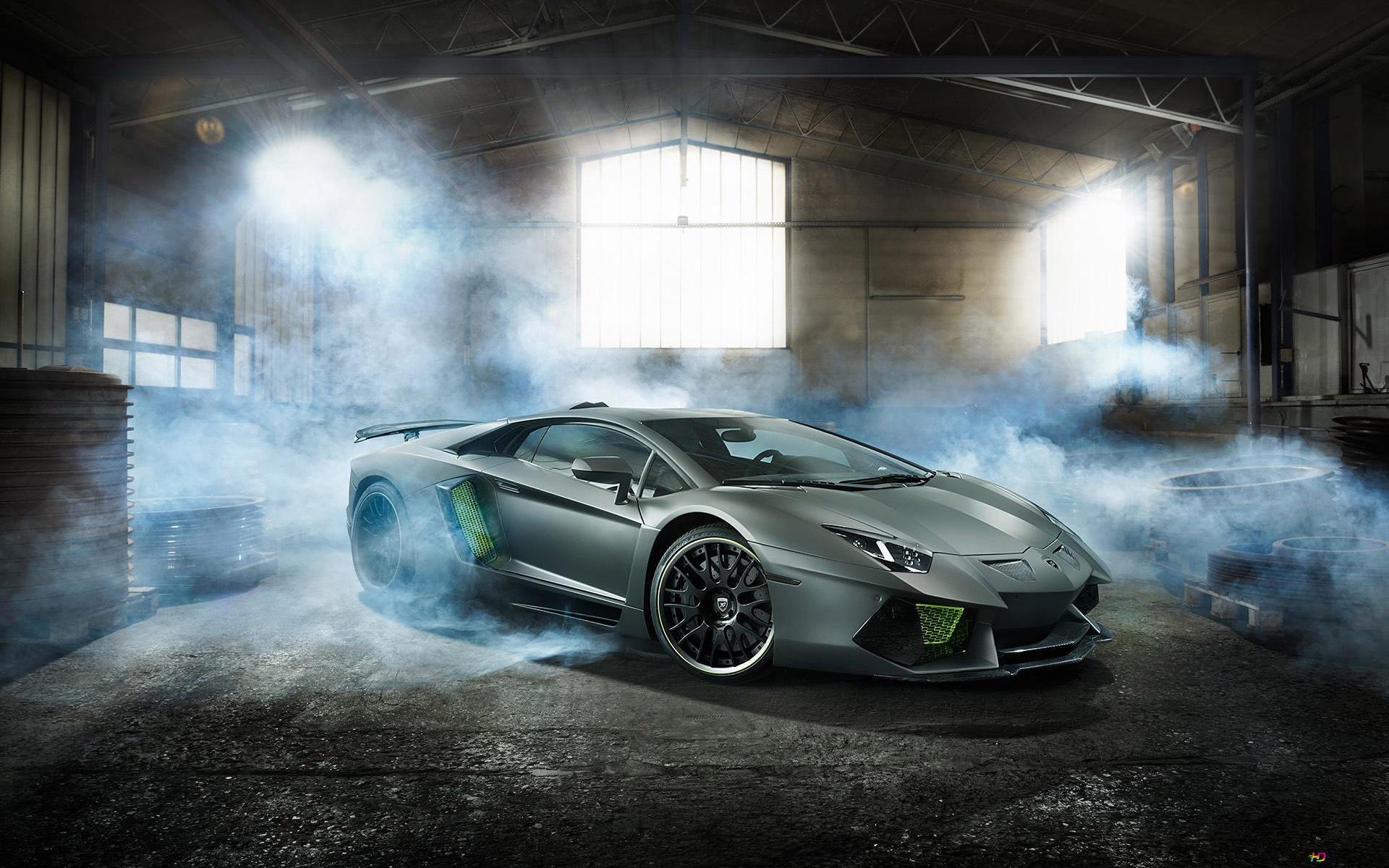 Descargar Fondo De Pantalla Lamborghini Aventador En El
