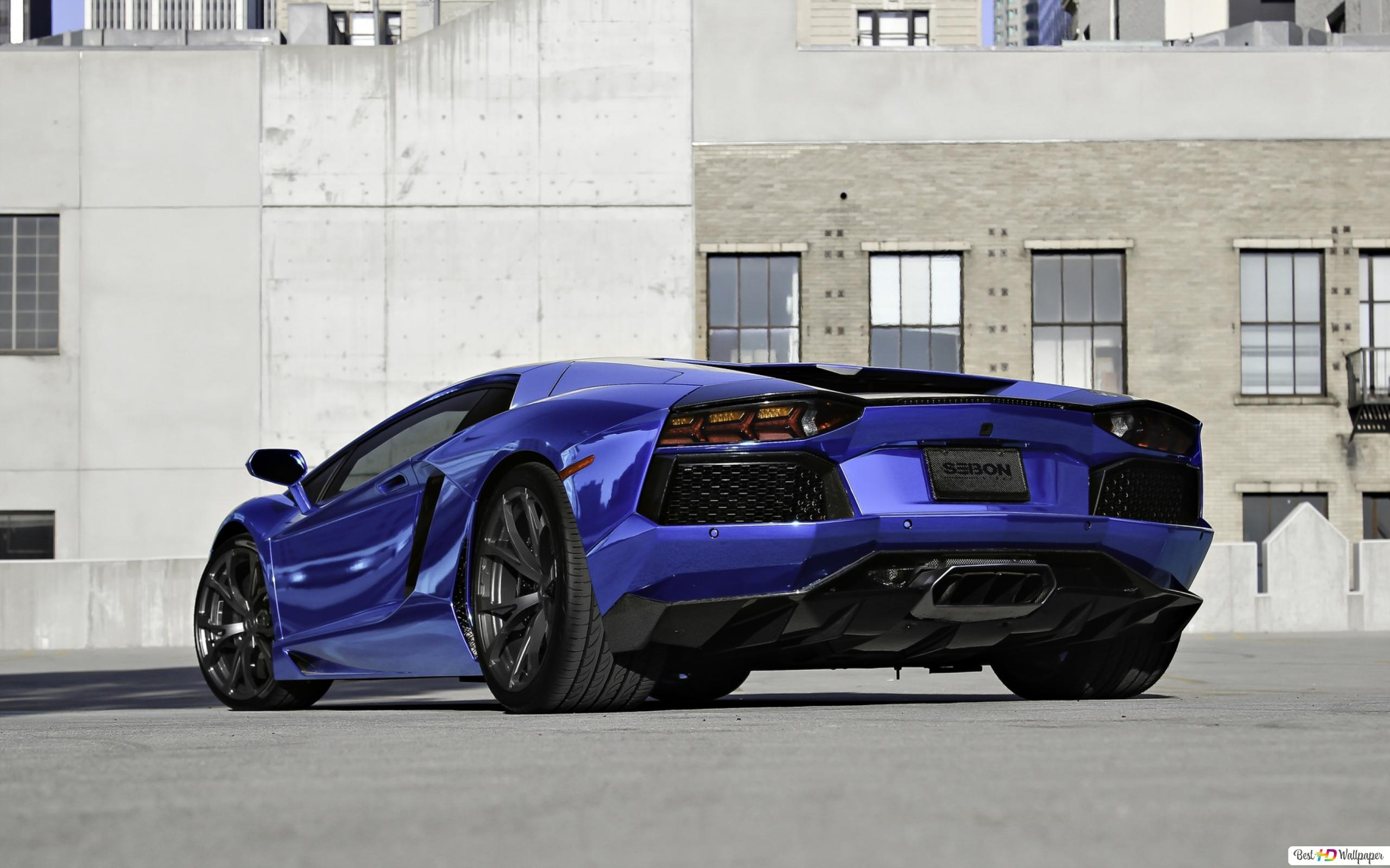 Lamborghini Aventador Lp740 4 Blue Hd Wallpaper Download