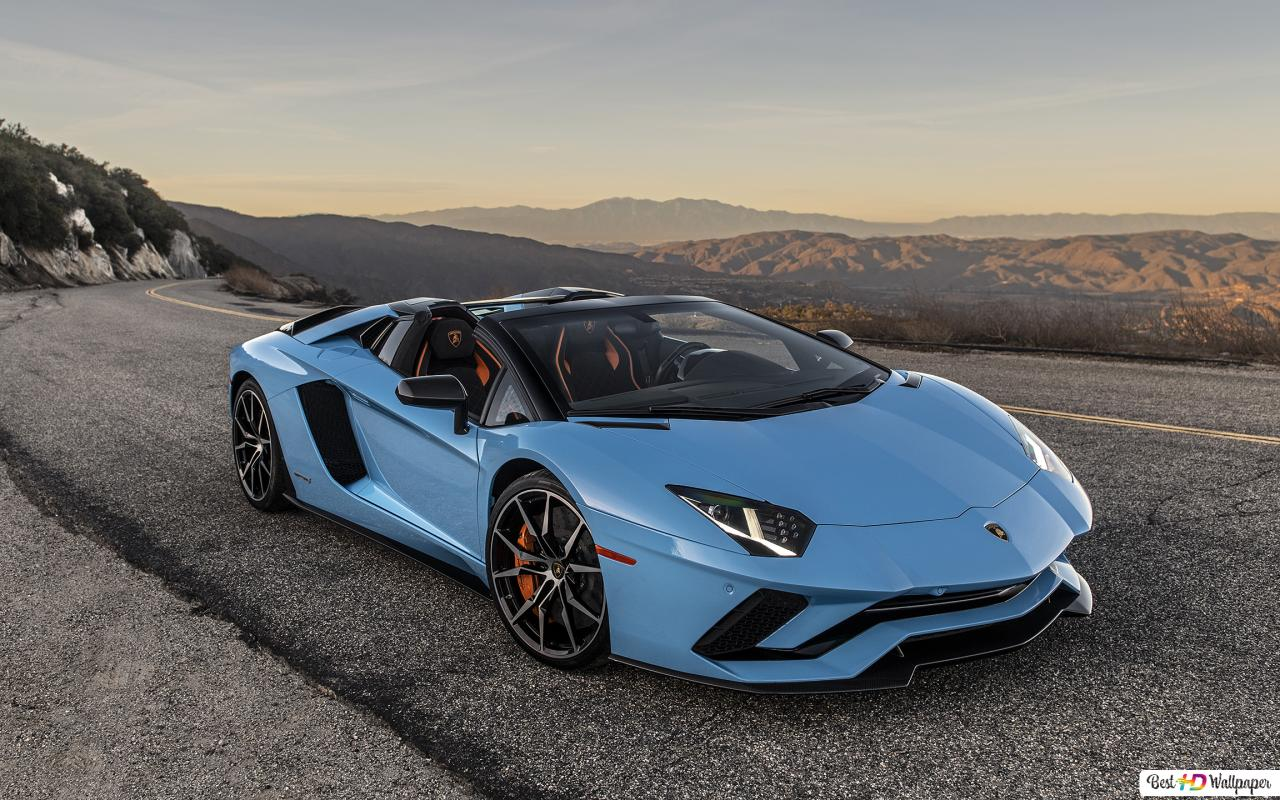 Lamborghini Aventador S Blue Hd Wallpaper Download