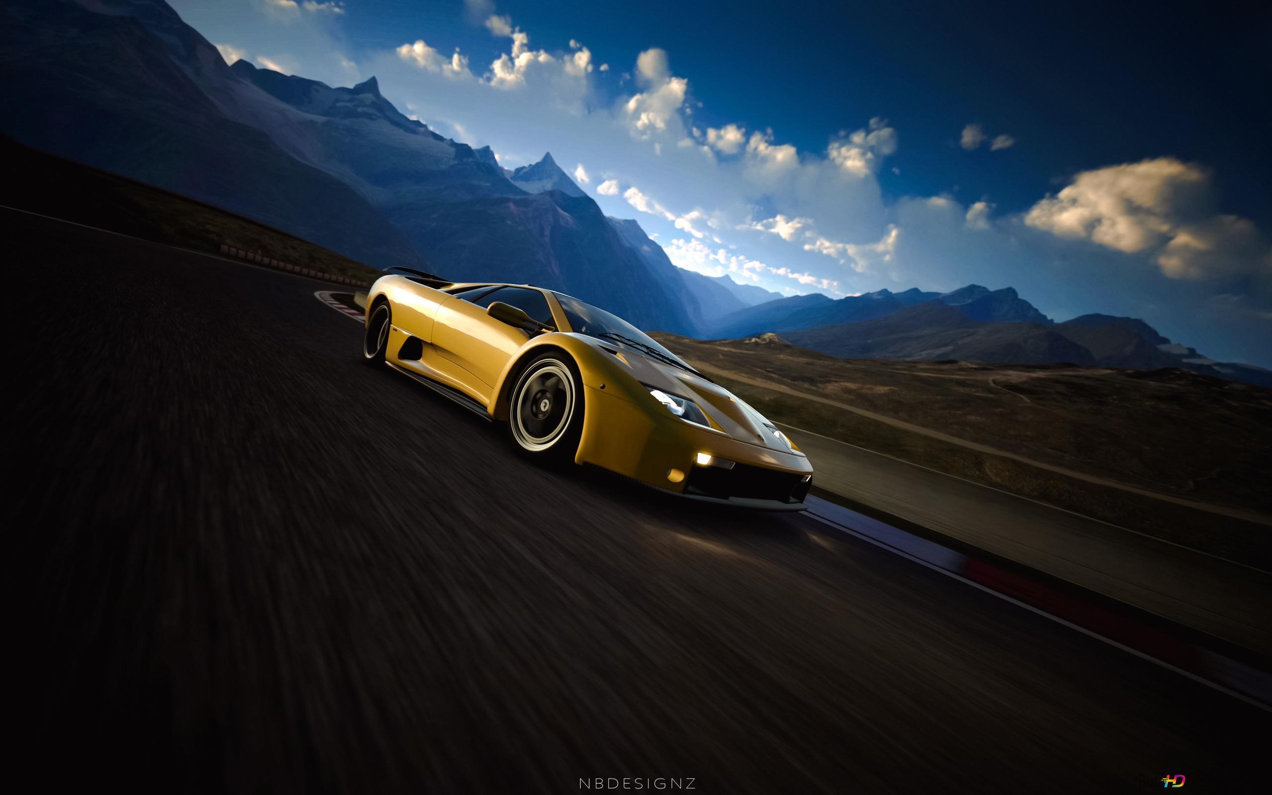 Descargar Fondo De Pantalla Lamborghini Diablo Amarillo Hd