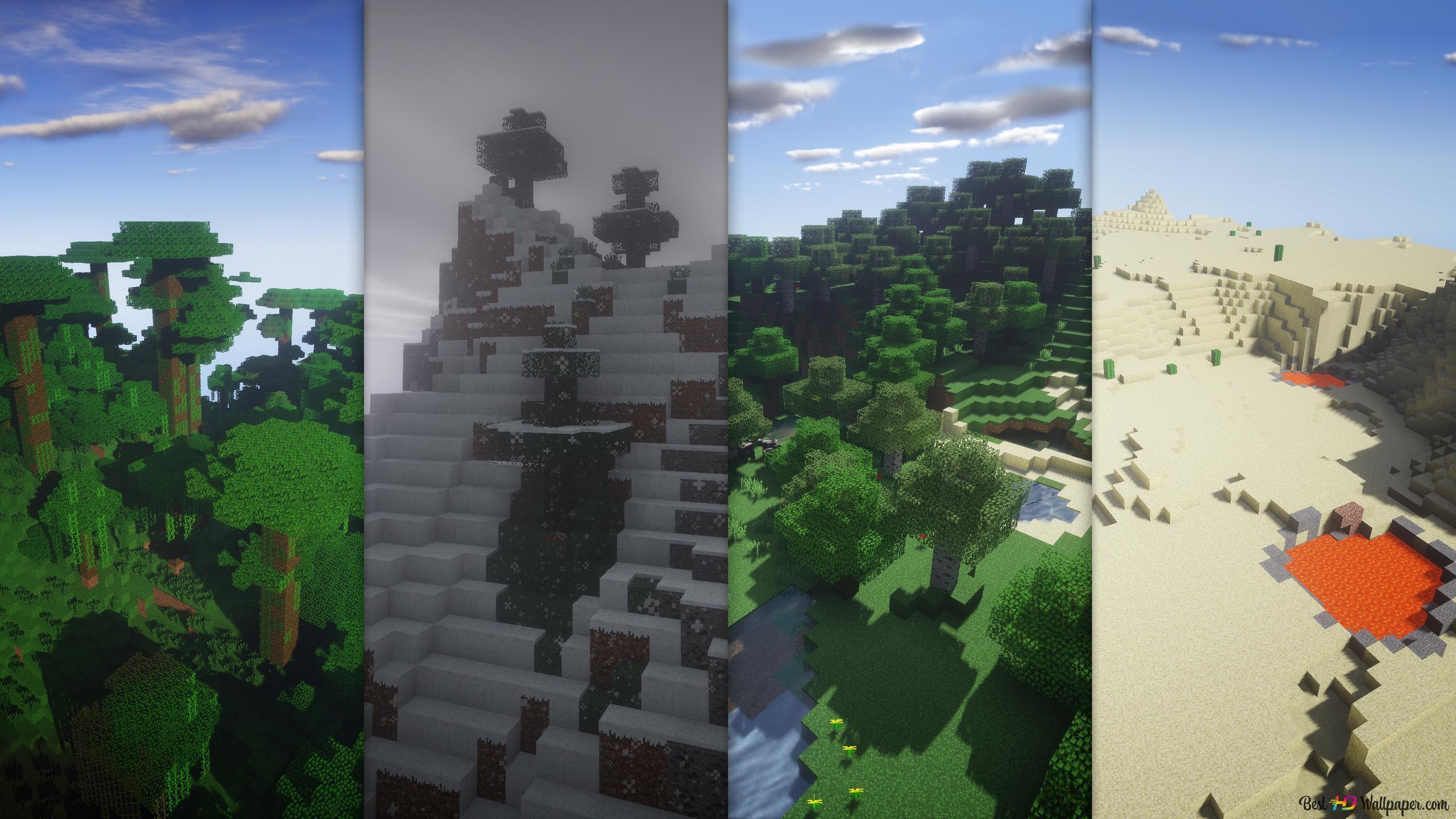 Lanskap Minecraft Unduhan Wallpaper Hd