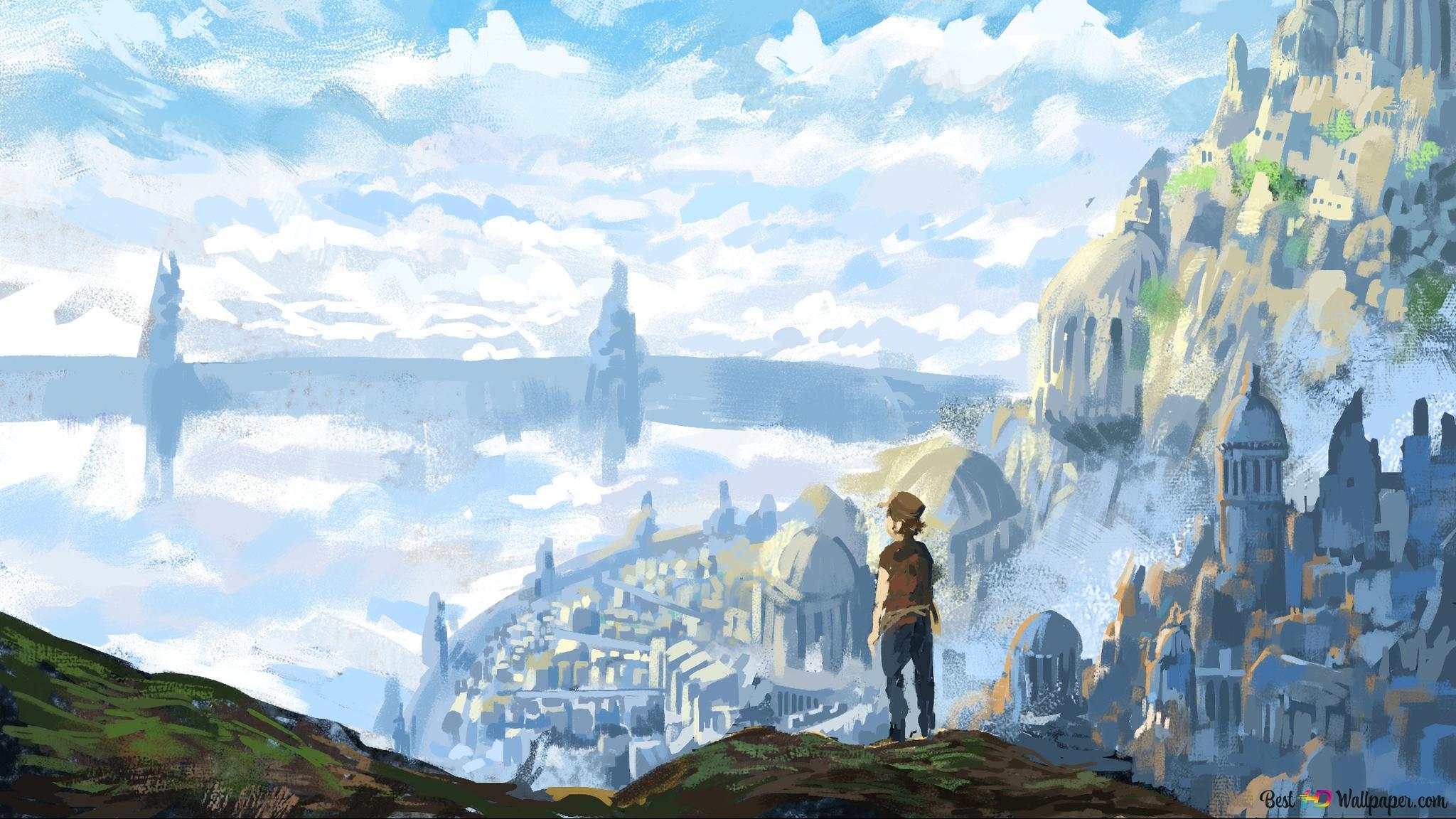 Laputa Castle In The Sky Hd Wallpaper Download