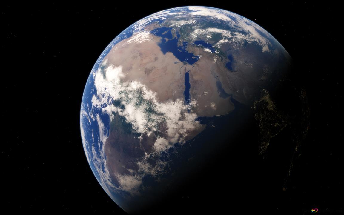Le Jour De La Terre Et La Nuit Hd Fond Décran Télécharger