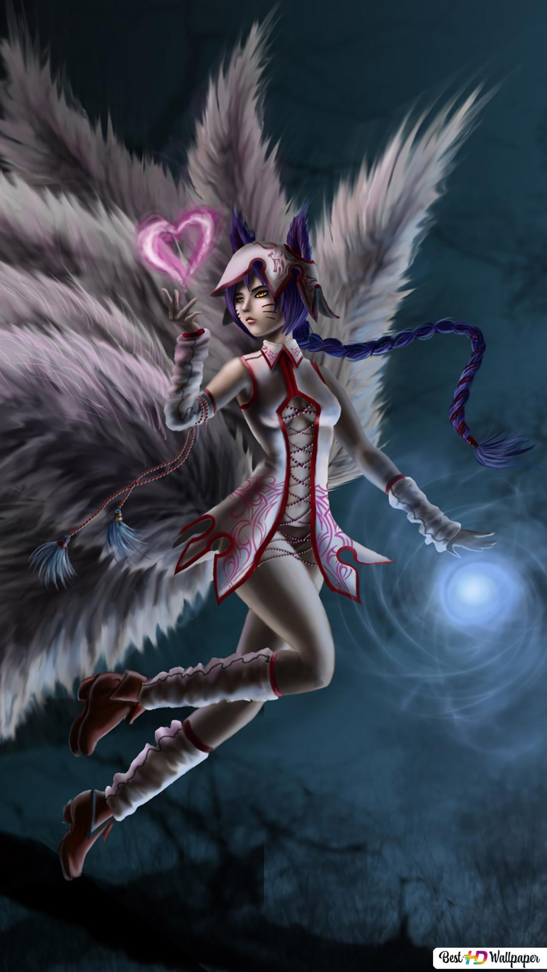 League Of Legends Lol Ahri Nine Tailed Fox Hd Wallpaper Download