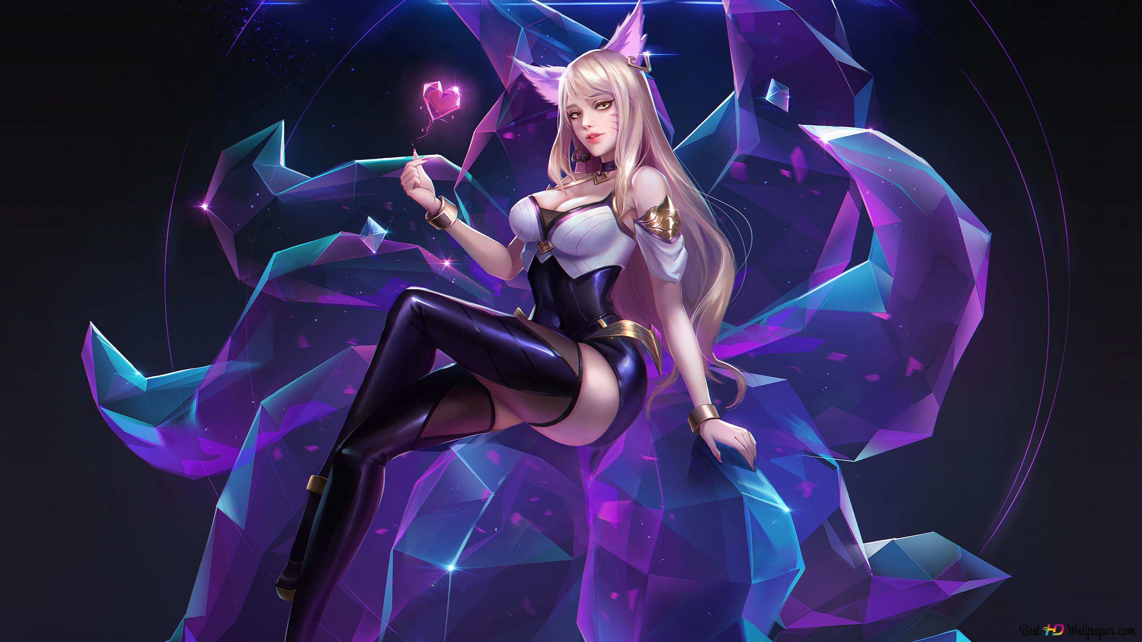 League Of Legends Lol K Da Ahri Hd Wallpaper Download