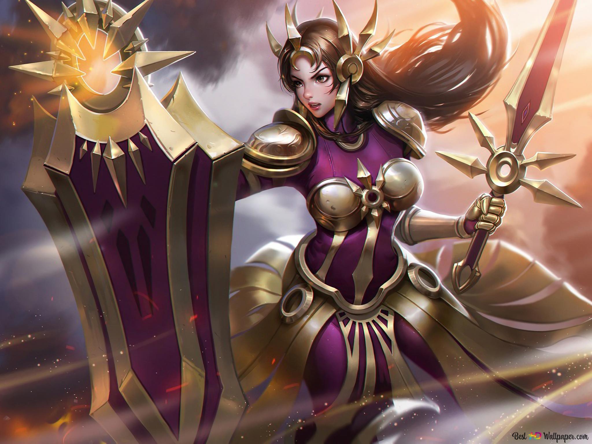 League Of Legends Lol Warrior Leona Hd Wallpaper Download