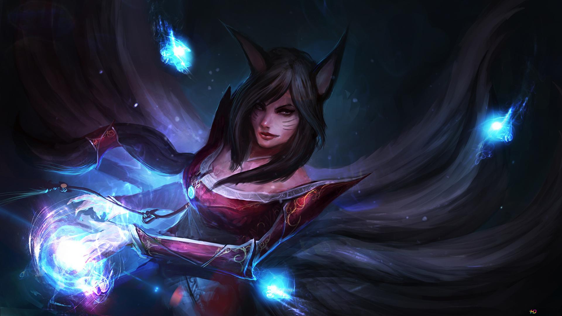League Of Legends Magical Ahri Hd Wallpaper Download