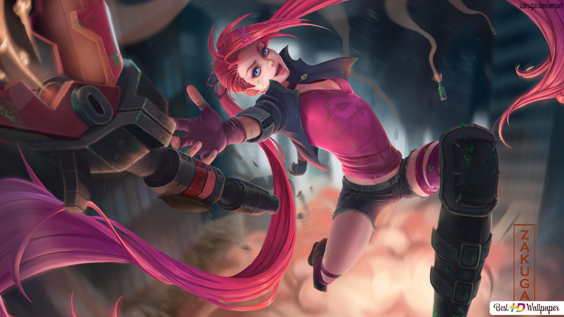 League Of Legends Slayer Jinx Hd Wallpaper Download