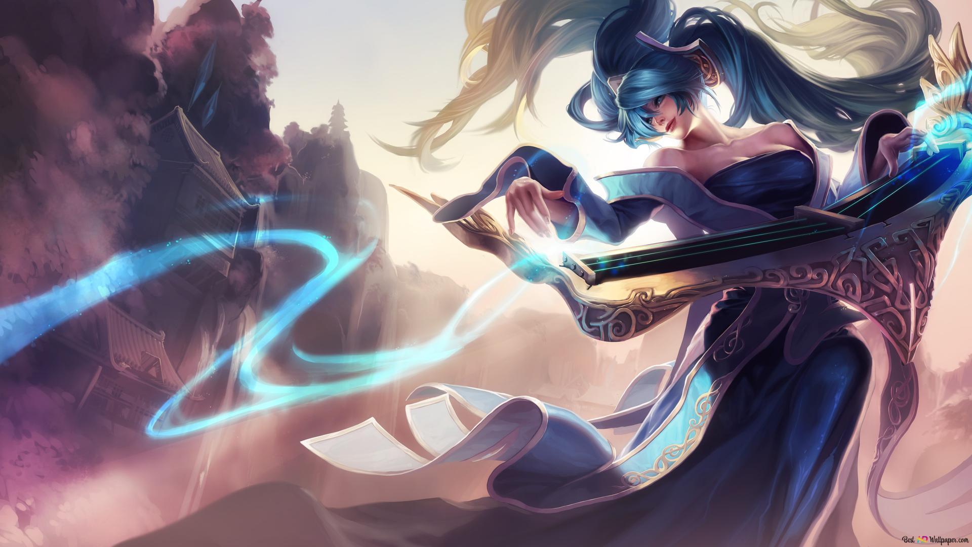 League Of Legends Sona Fantasy Art Hd Fond D Ecran Telecharger