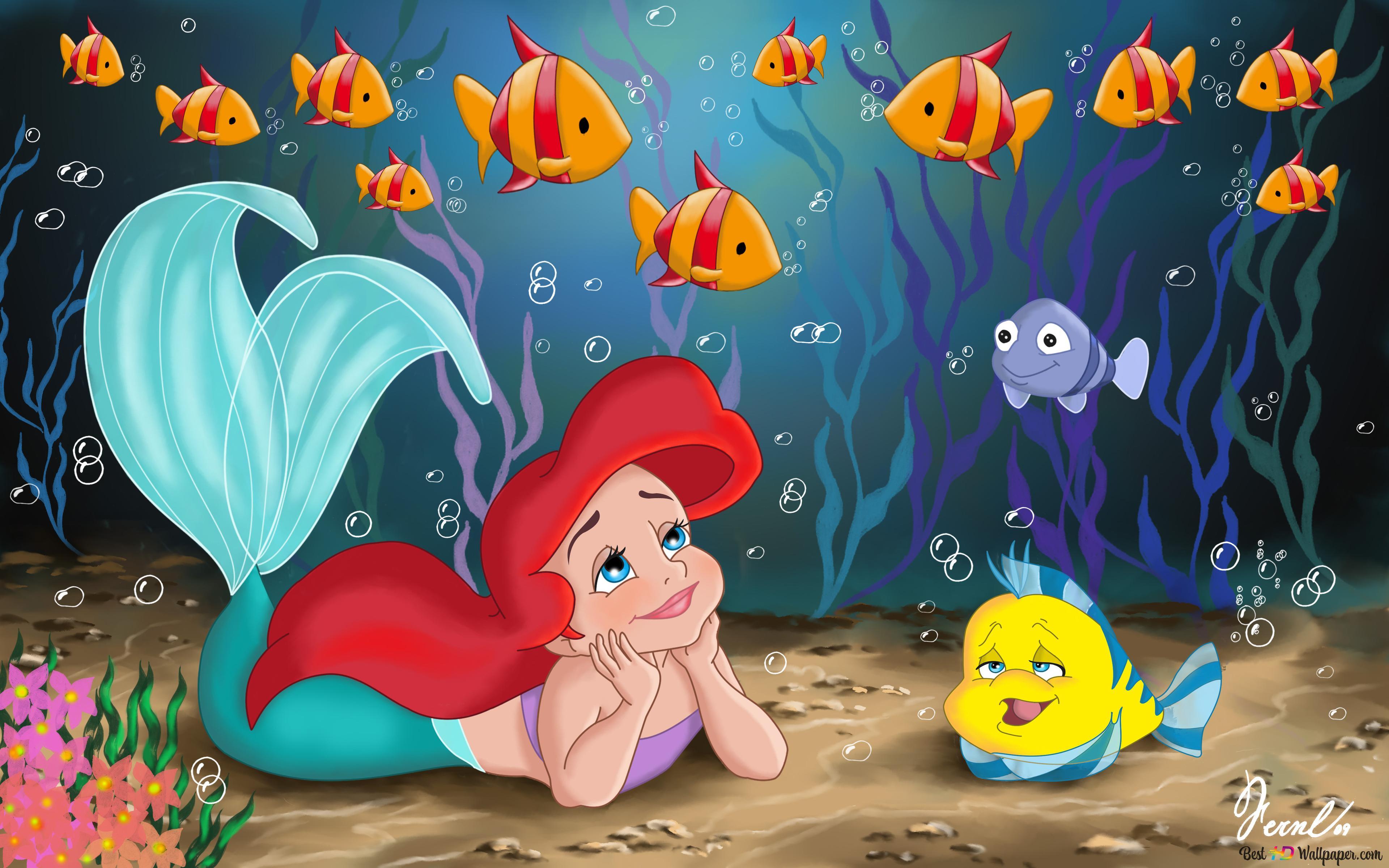 Little Ariel And Flonder Hd Wallpaper Download