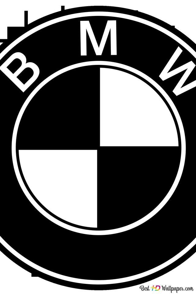 Descargar Fondo De Pantalla Logotipo De Bmw En Blanco Y Negro Hd