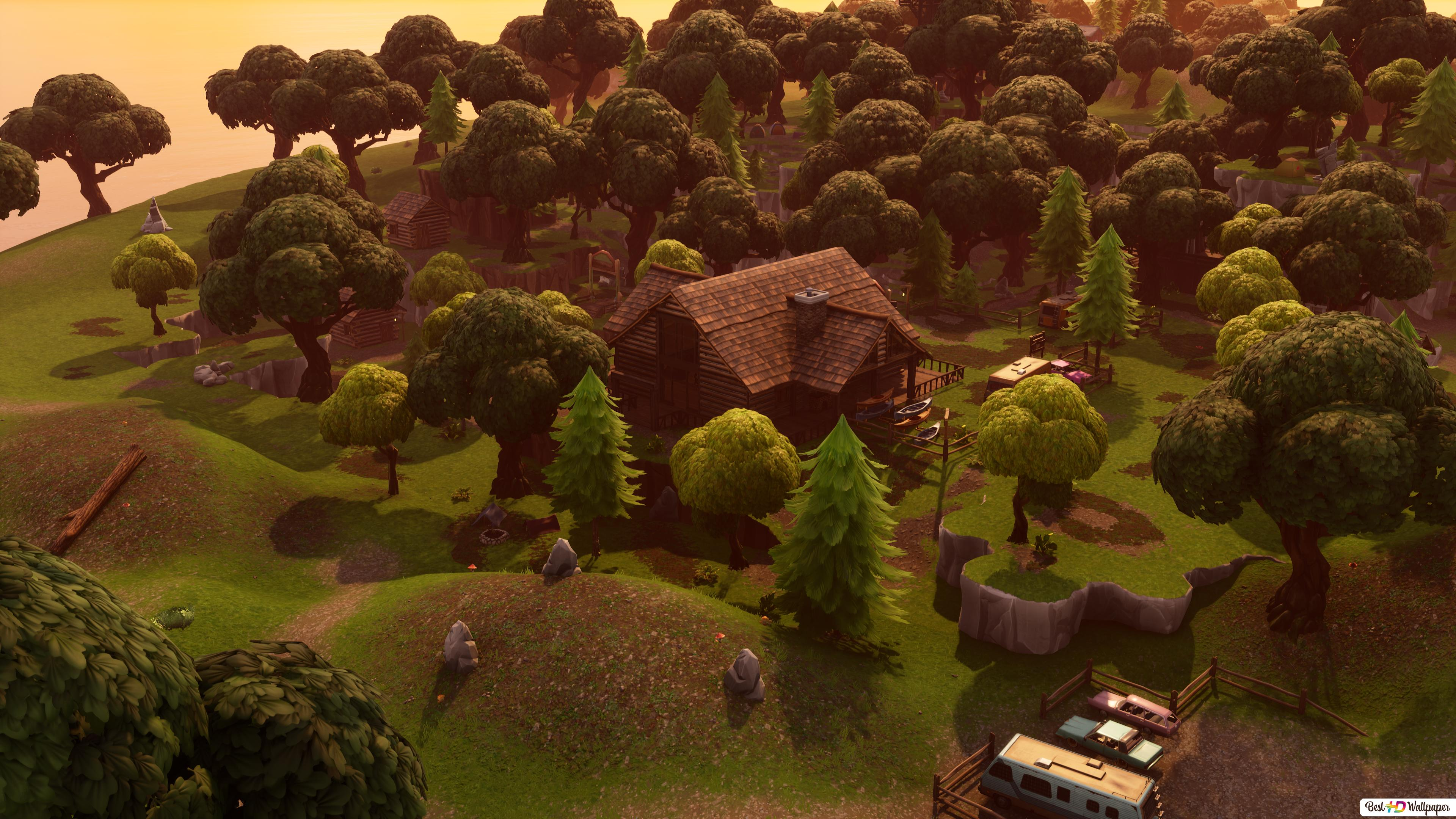 Lonely Lodge 4k Fortnite Hd Wallpaper Download