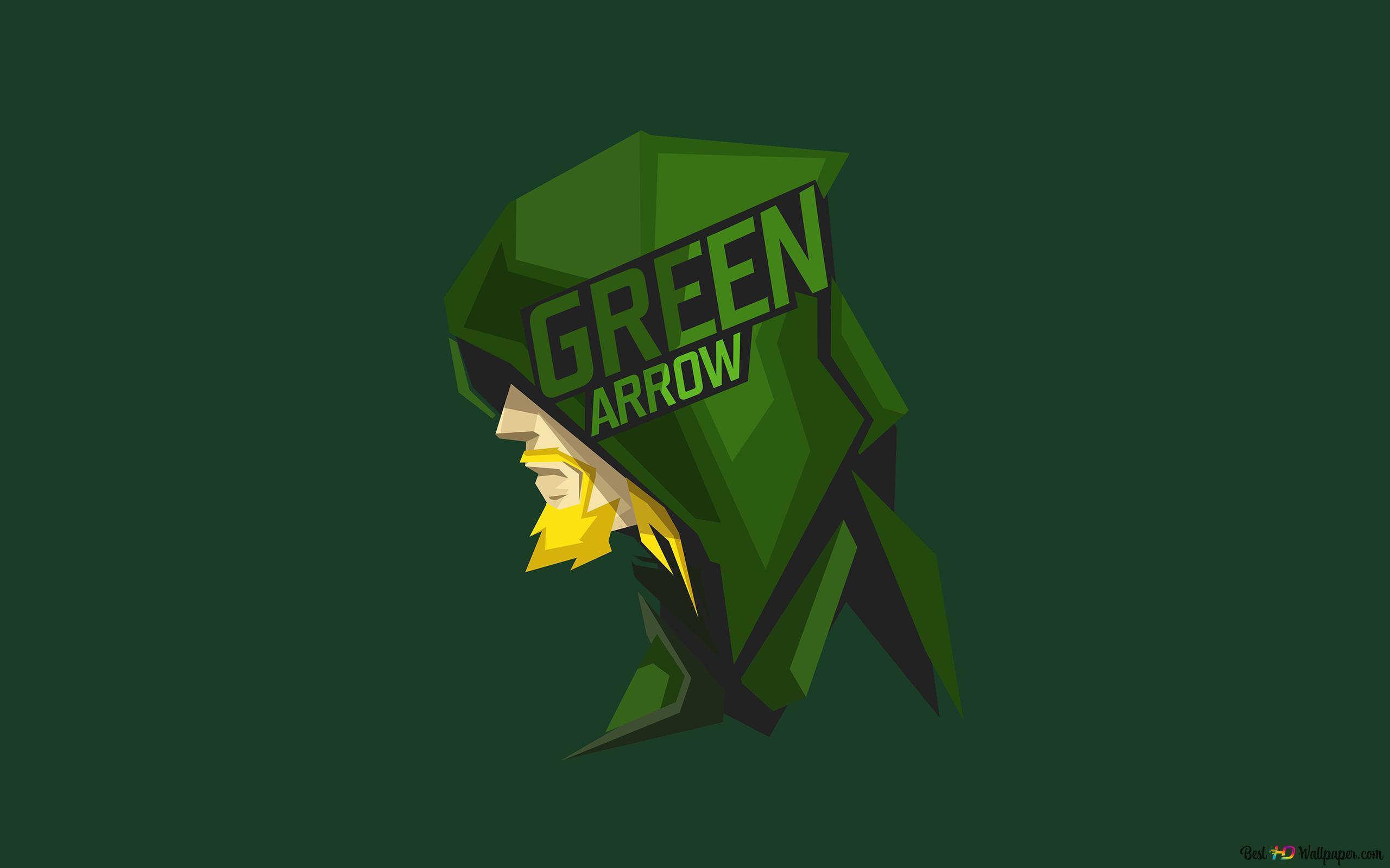 緑の壁紙ミニマルでdcコミックスグリーンアロー Hd壁紙のダウンロード