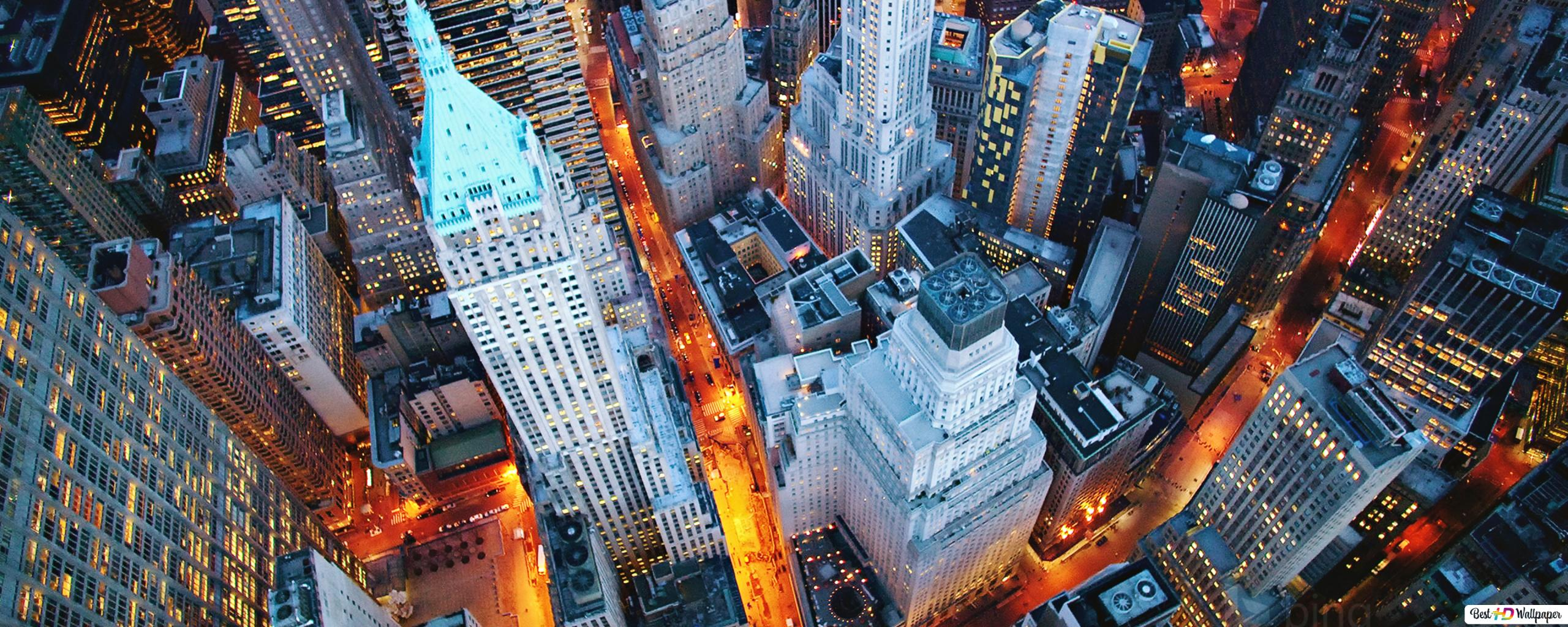 Luci Di Notte A New York Download Di Sfondi Hd