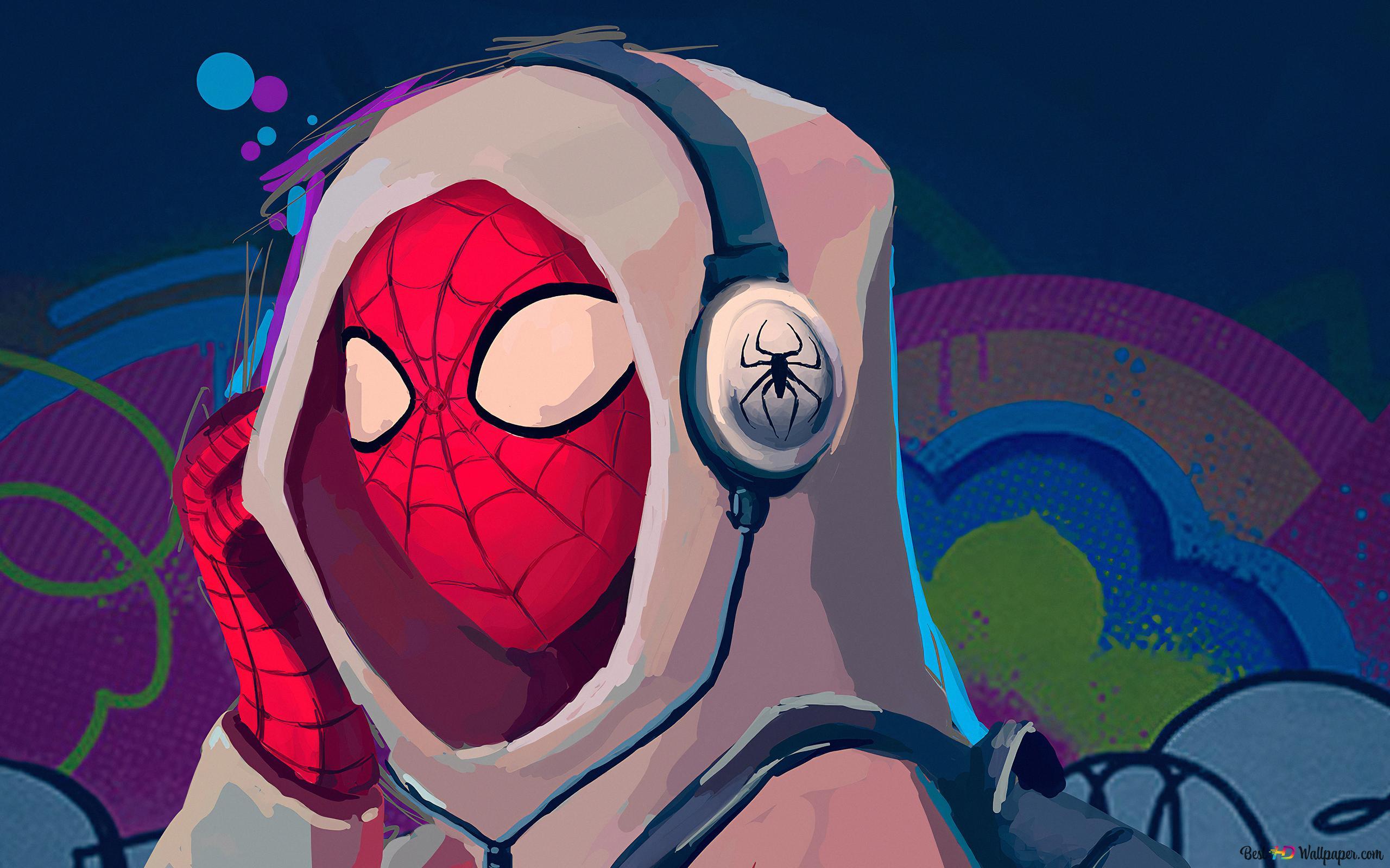 マーベルコミック ヘッドホンでhoddieスパイダーマン Hd壁紙の