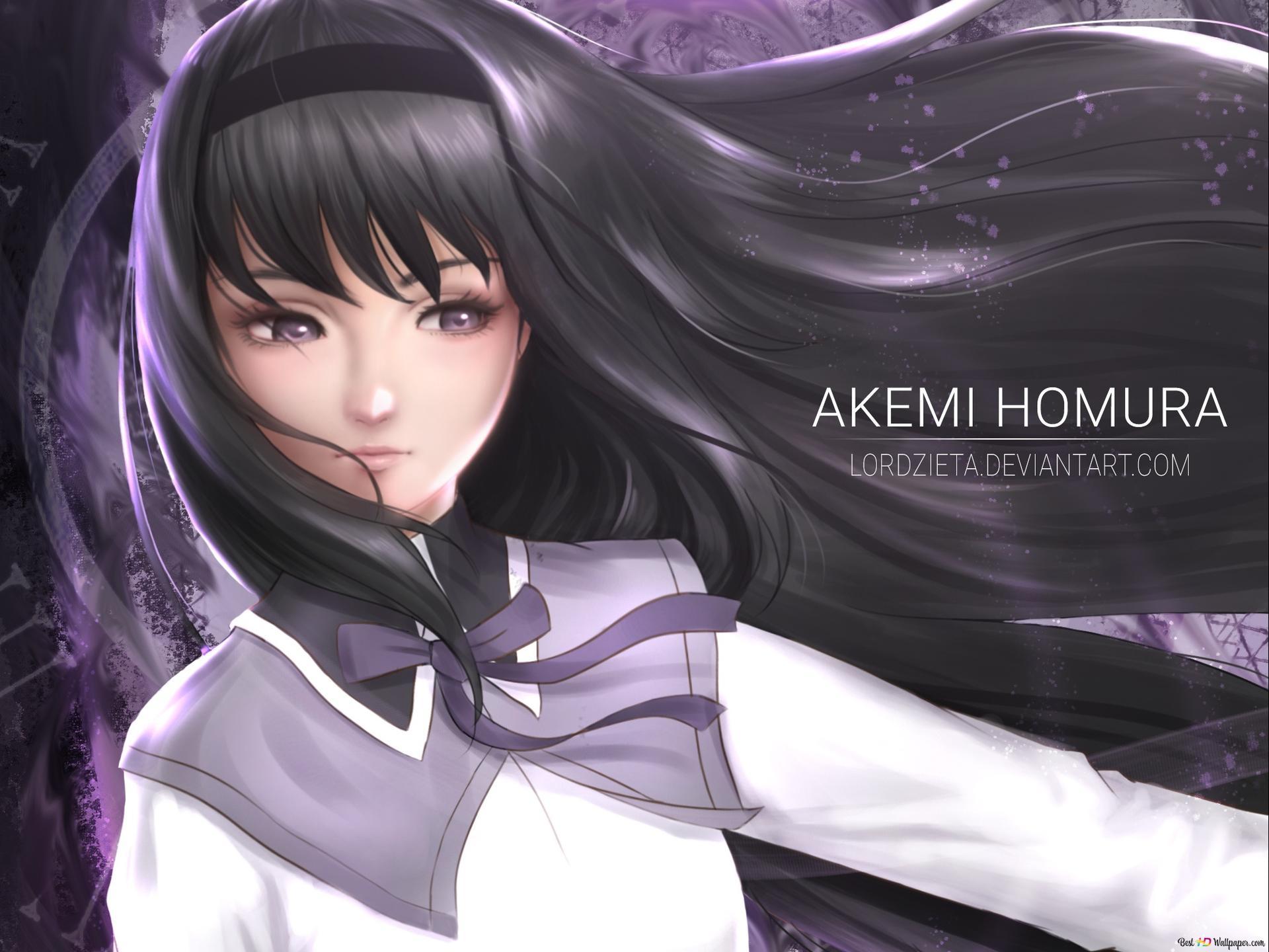 Mahou Shoujo Madoka Magica Akemi Homura Hd Wallpaper Download