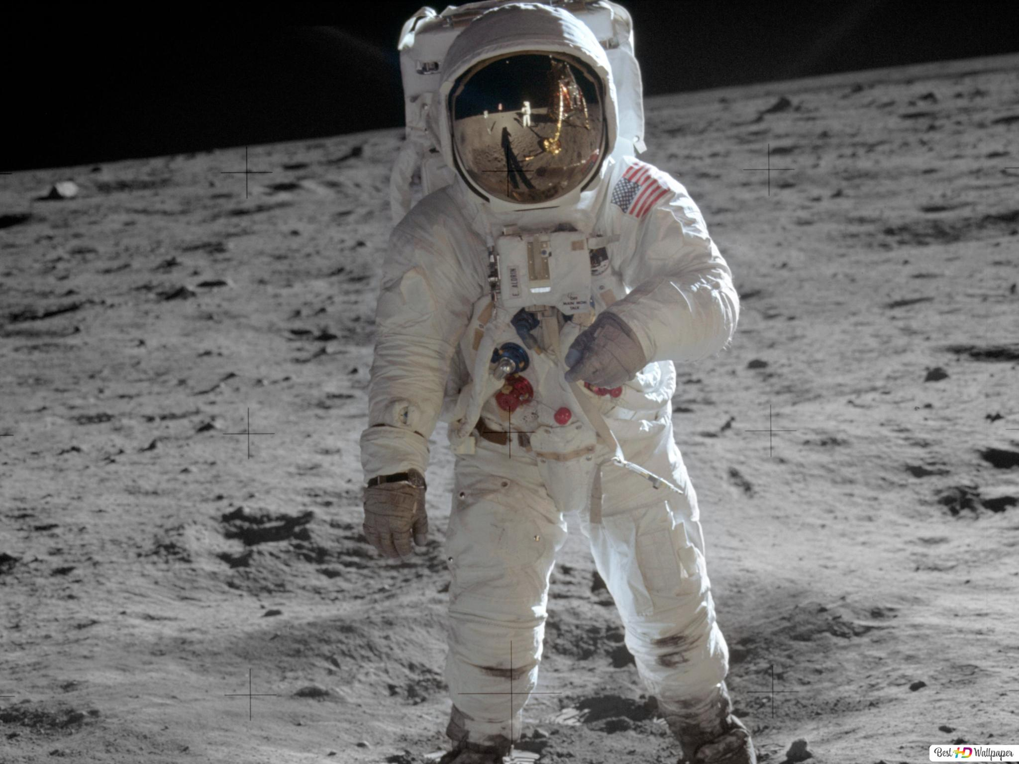 Man On The Moon Hd Wallpaper Download