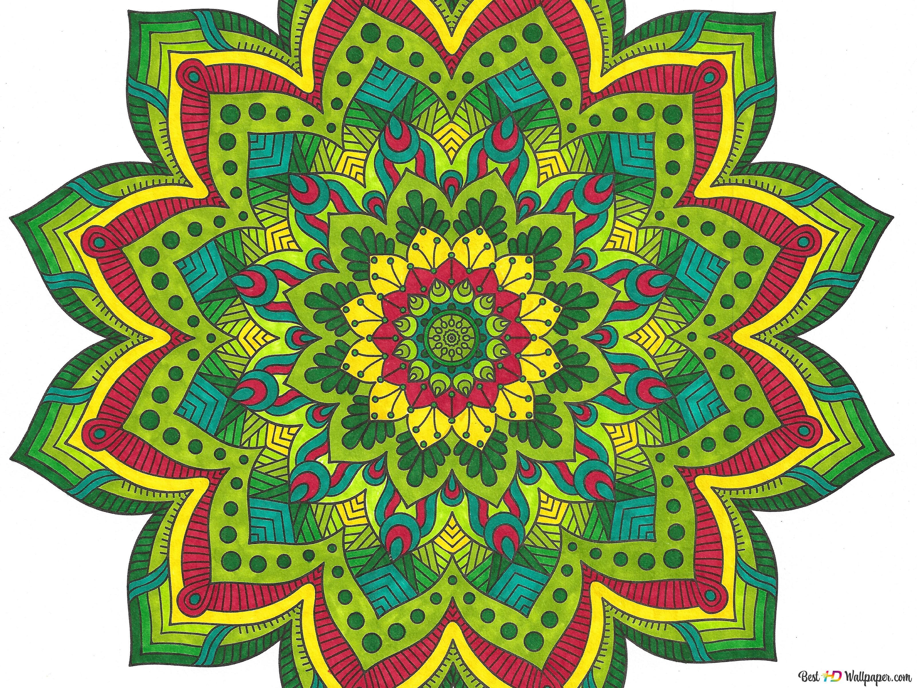 Mandala Flower Hd壁紙のダウンロード