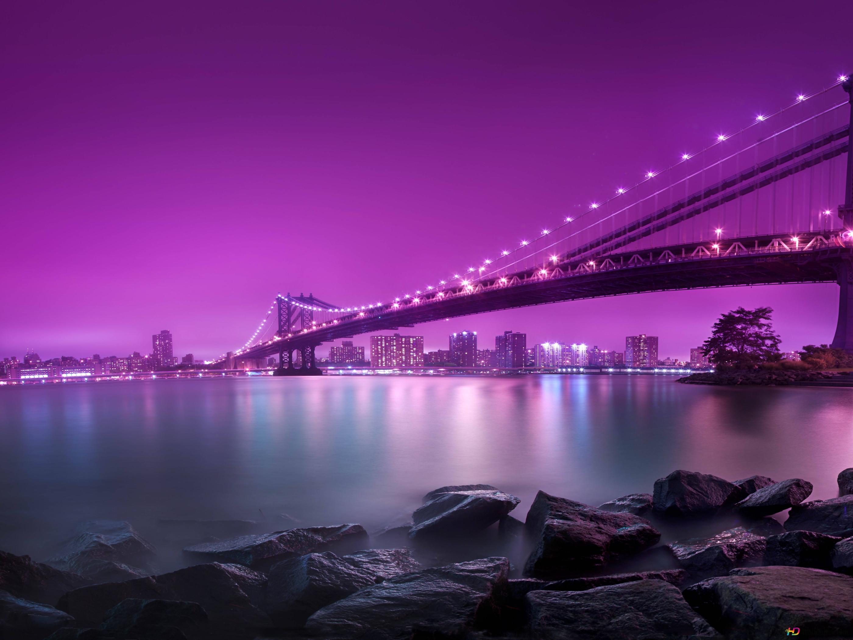 Manhattan-Brücke HD Hintergrundbilder Herunterladen