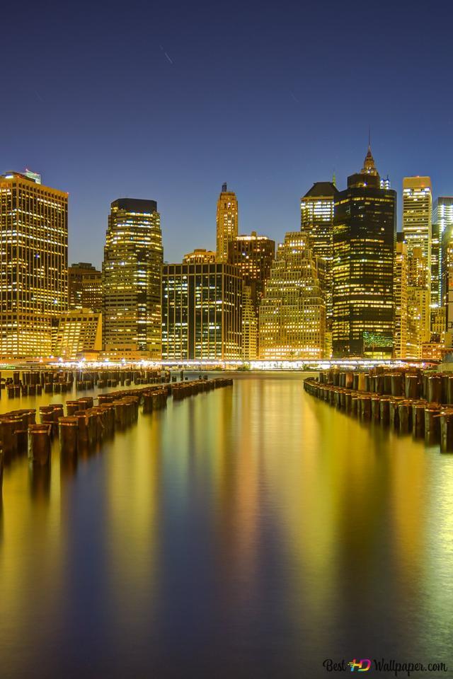 Manhattan Night New York City Hd Wallpaper Download