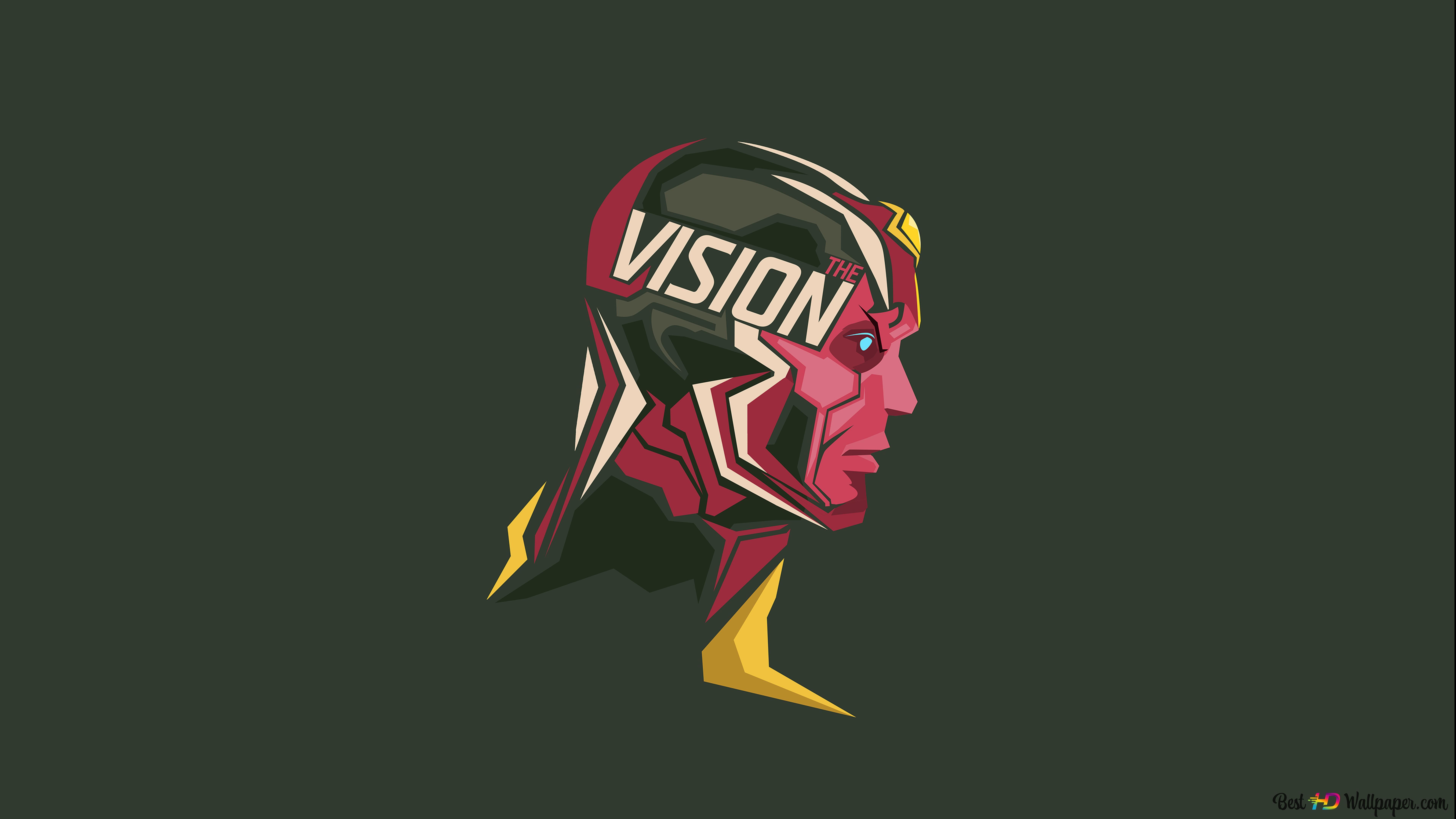 Marvel Comics Ft Vision Minimalist Hd Wallpaper Download
