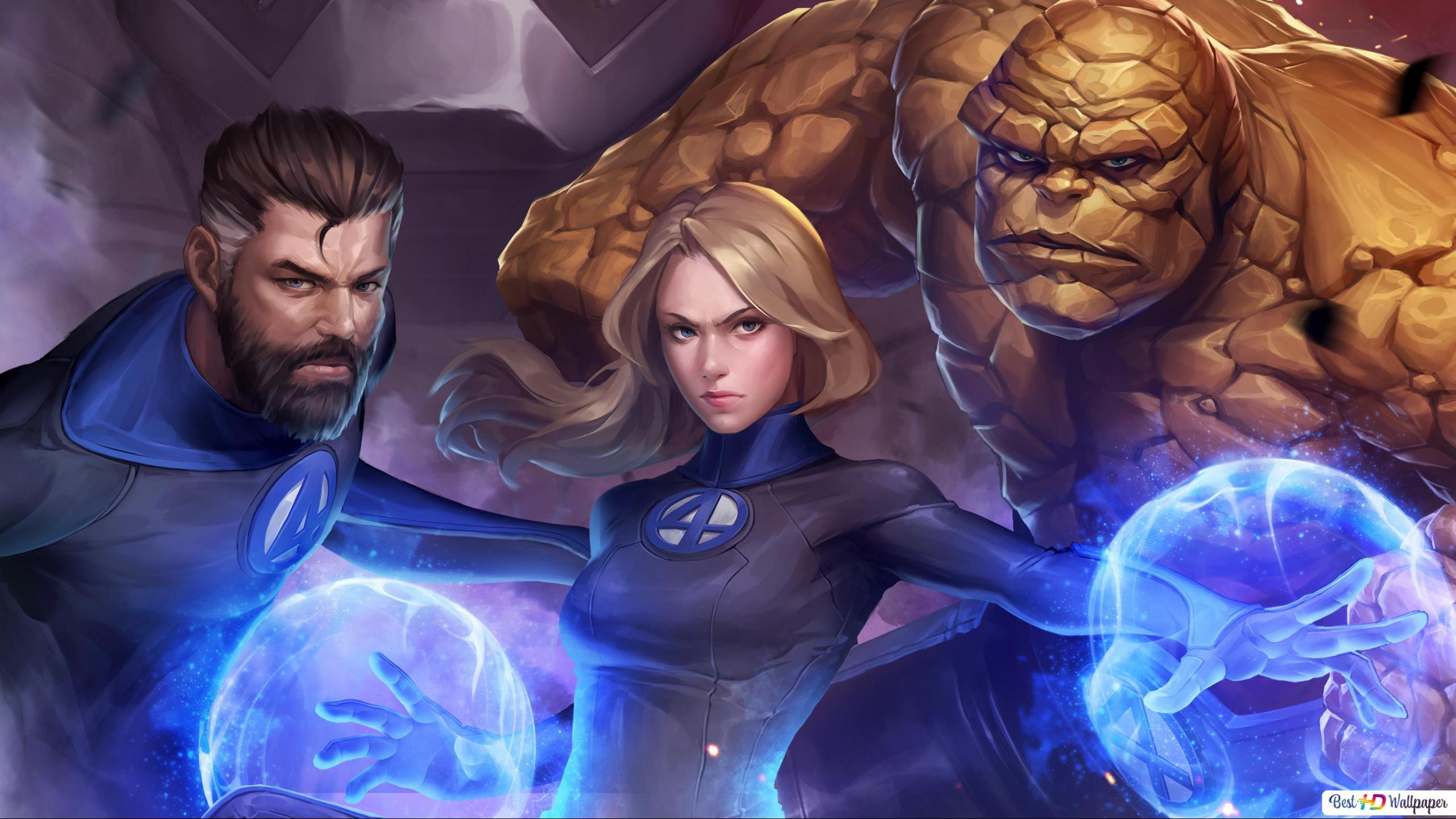 Marvel Future Fight Game Fantastic Four Hd Wallpaper Download