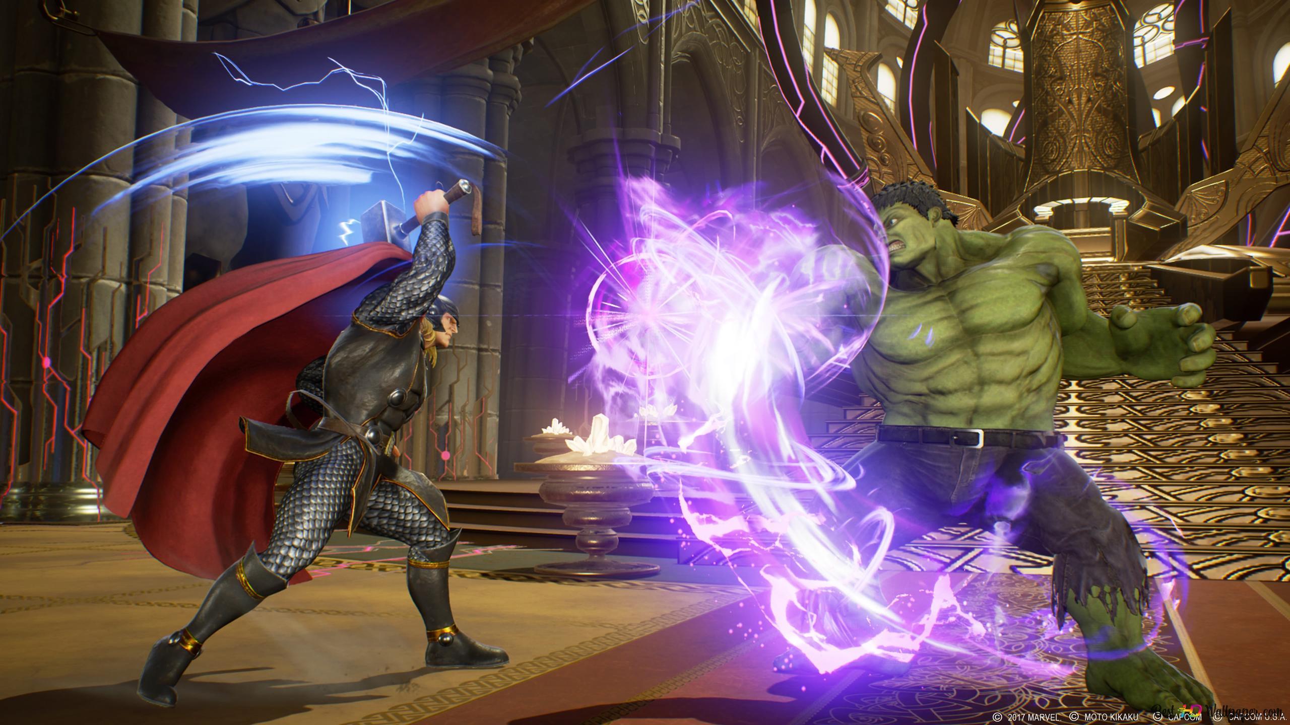 Marvel Vs Capcom Infinite Hulk Vs Thor Hd Wallpaper Download