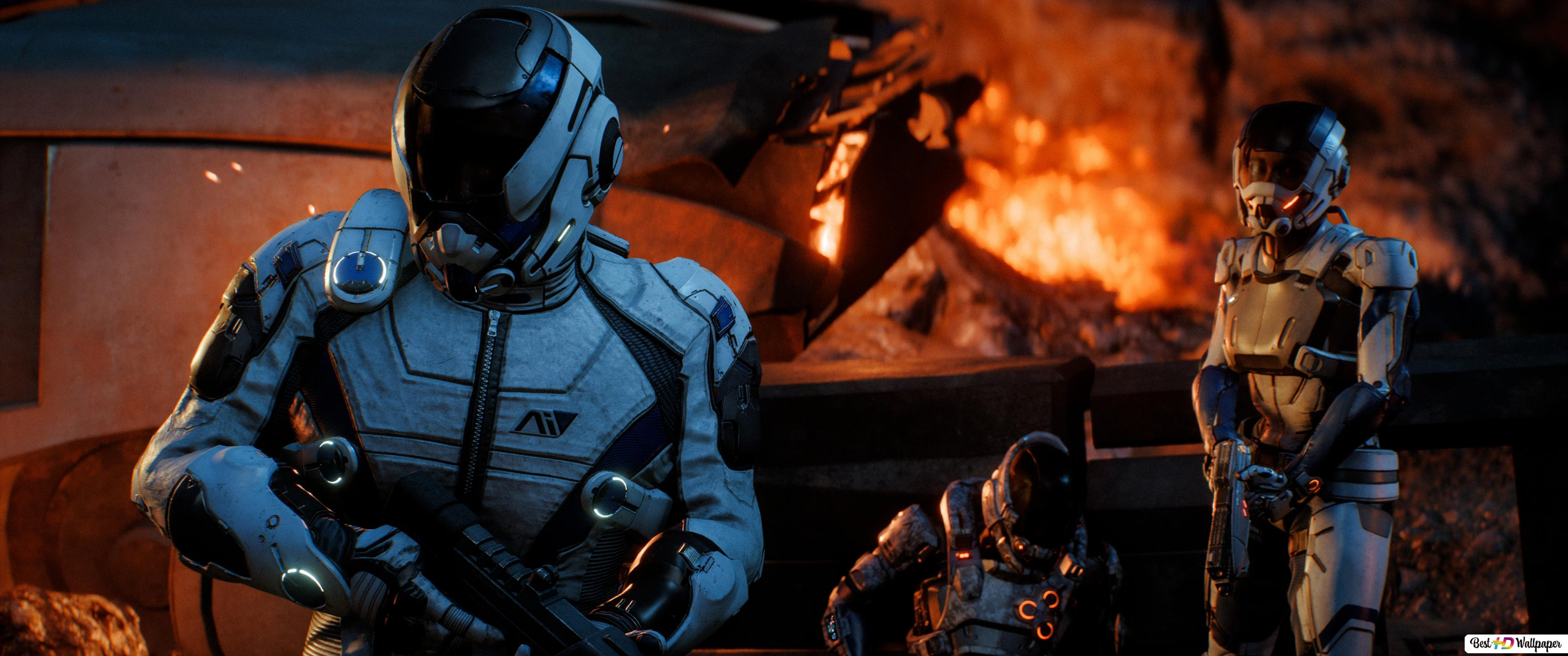 Mass Effect Andromeda Soldiers Hd Wallpaper Download