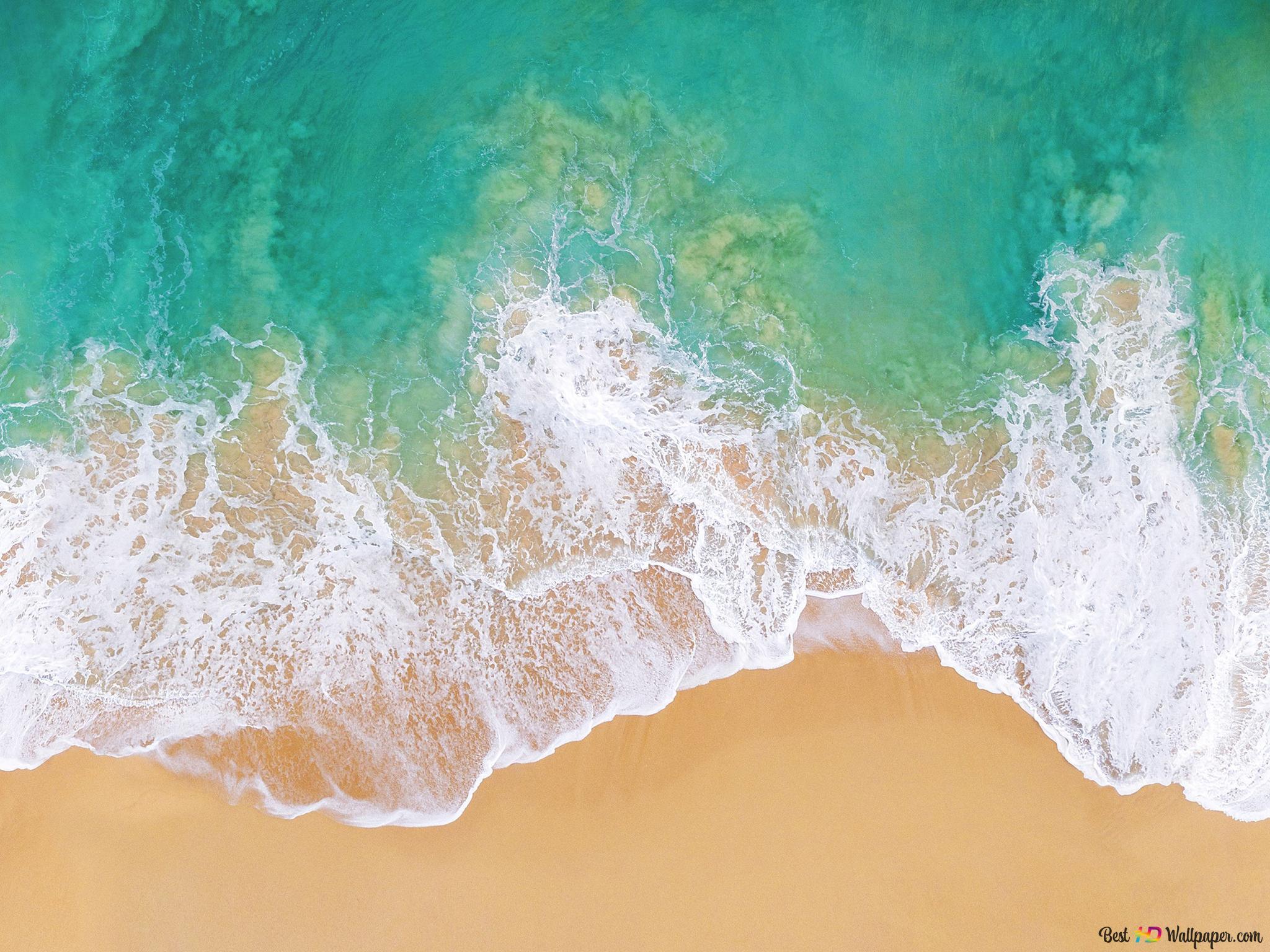 美しい海の海岸の背景 Hd壁紙のダウンロード