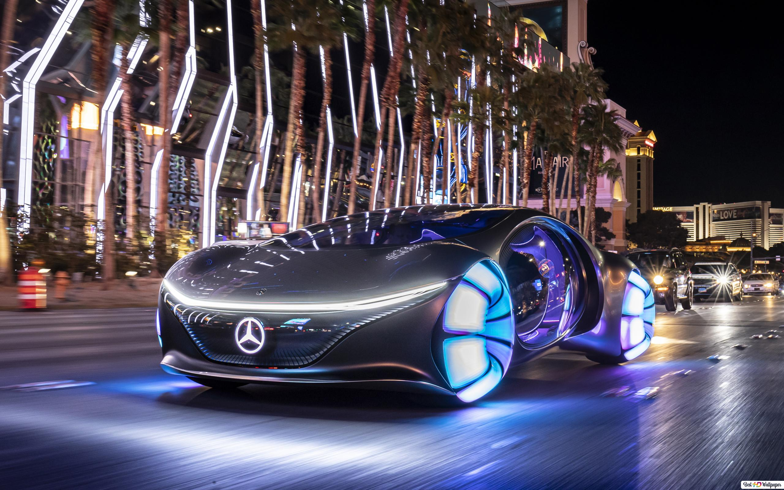 Mercedes Benz Vision Avtr Avatar Inspired Concept Car Hd Wallpaper Download