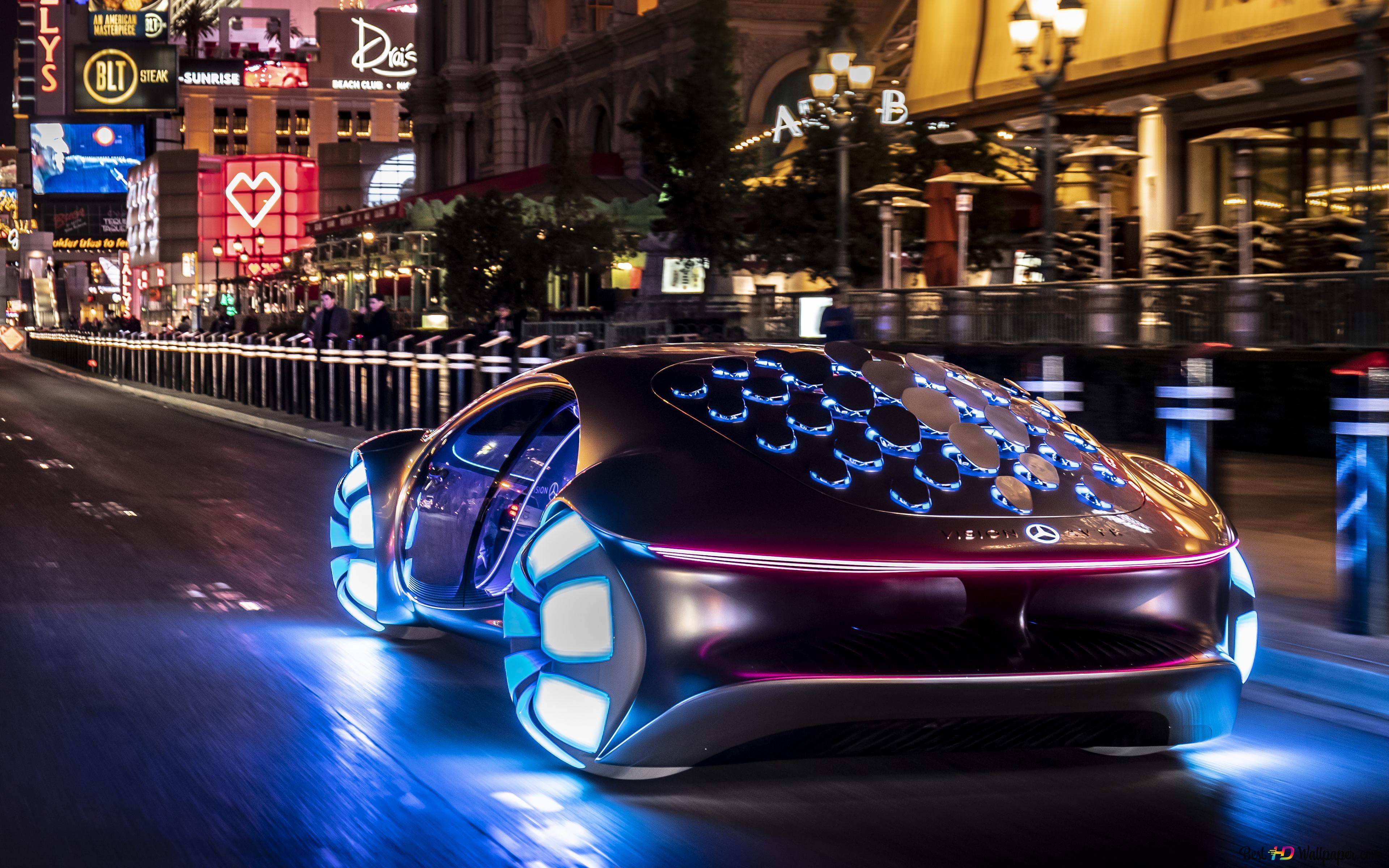 Mercedes Benz Vision Avtr Futuriste Voiture Dans Le Monde Reel Hd Fond D Ecran Telecharger