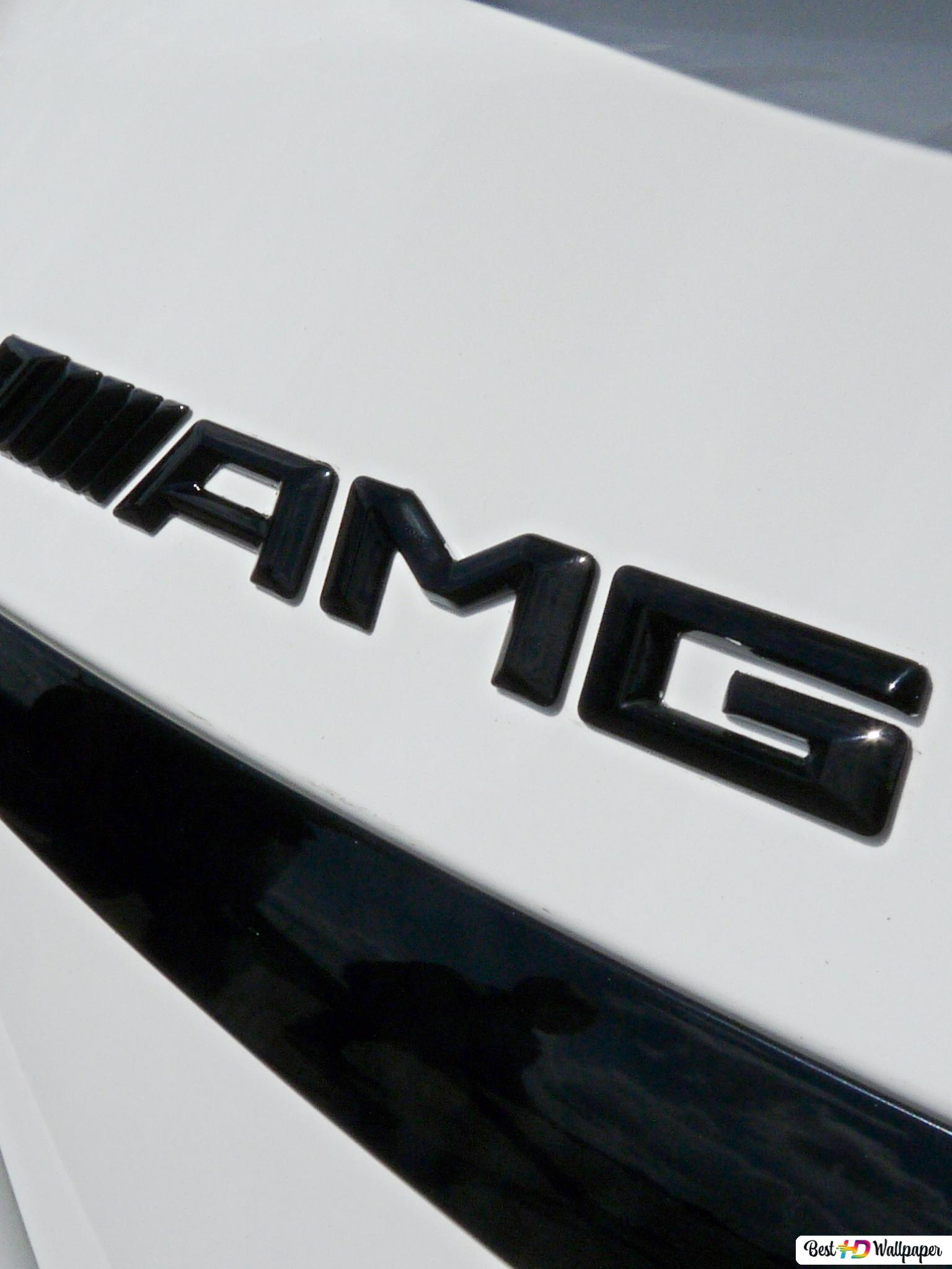 Mercedes c63 amg logo HD wallpaper download