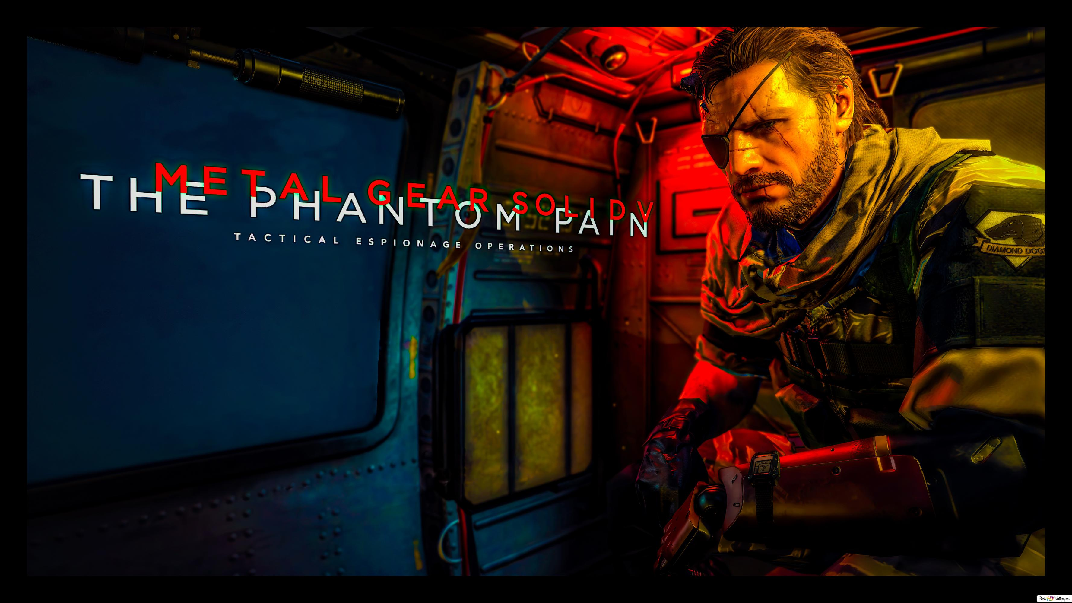 Metal Gear Solid V The Phantom Pain Menu Screen 8k 4k Hd