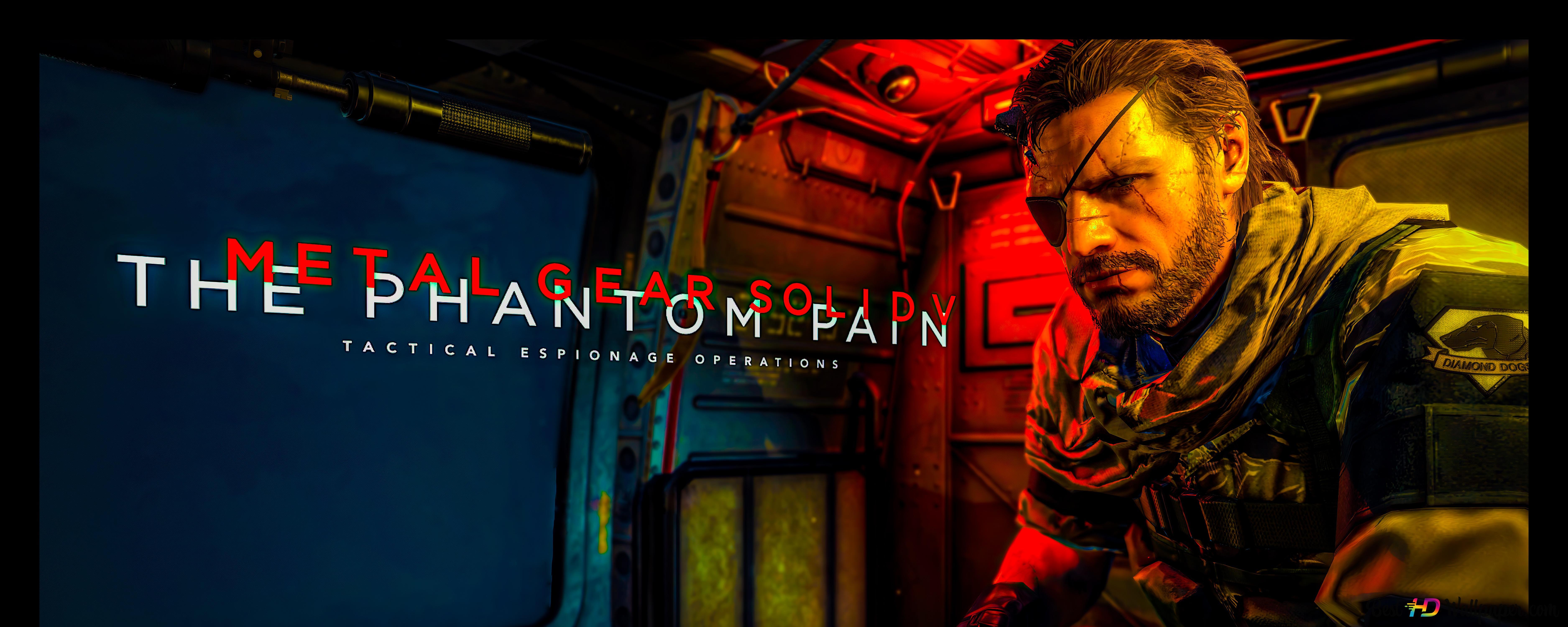 Metal Gear Solid V The Phantom Pain Menu Screen 8k 4k Hd