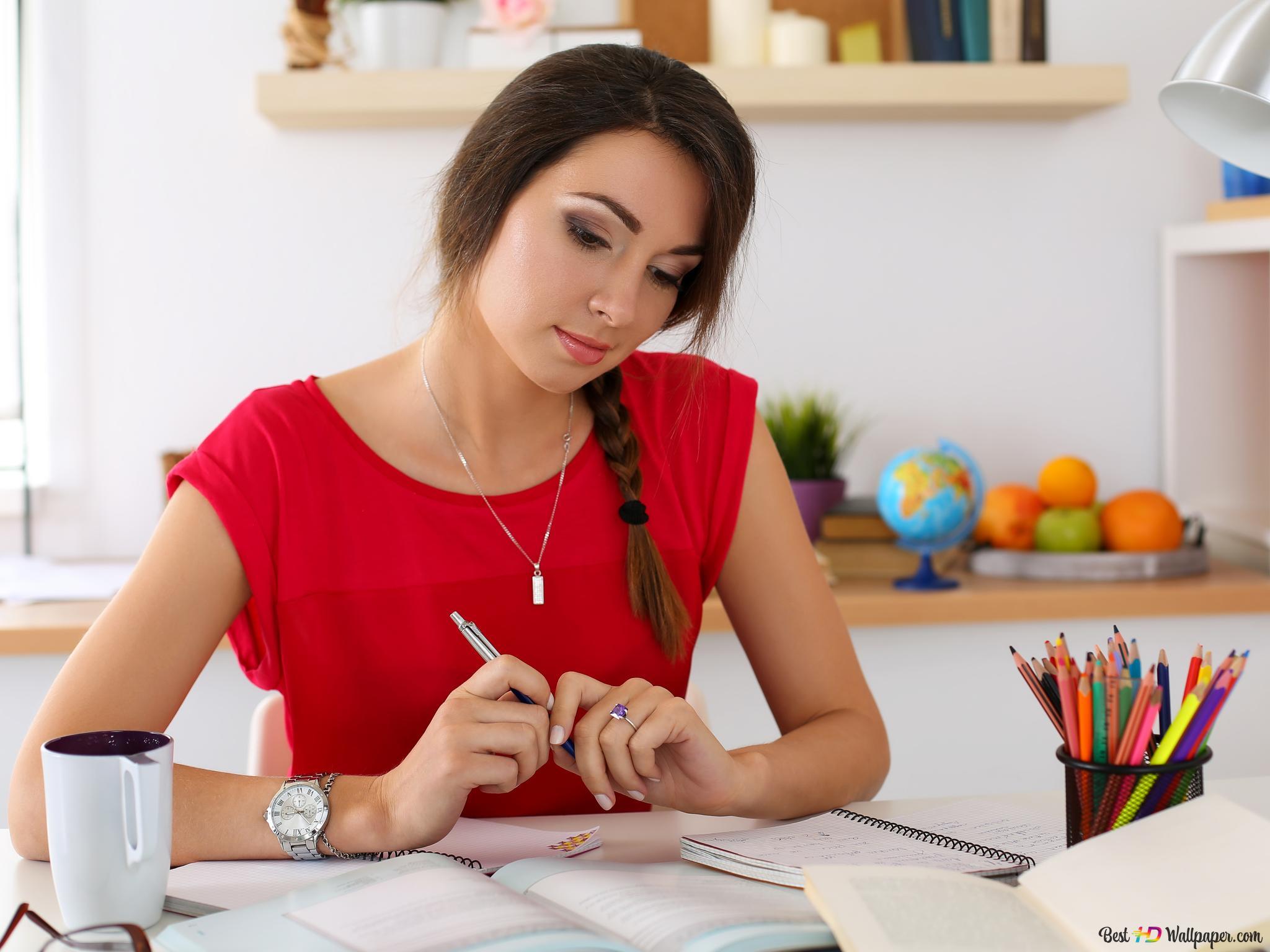 勉強かわいい女の子 Hd壁紙のダウンロード