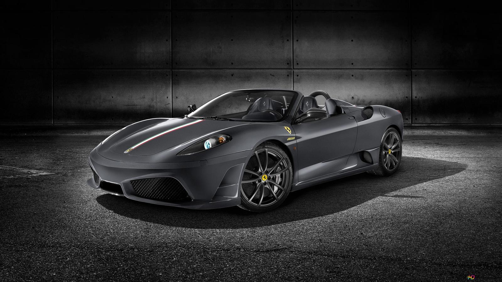 Midnight Black Ferrari Sport Car Hd Wallpaper Download