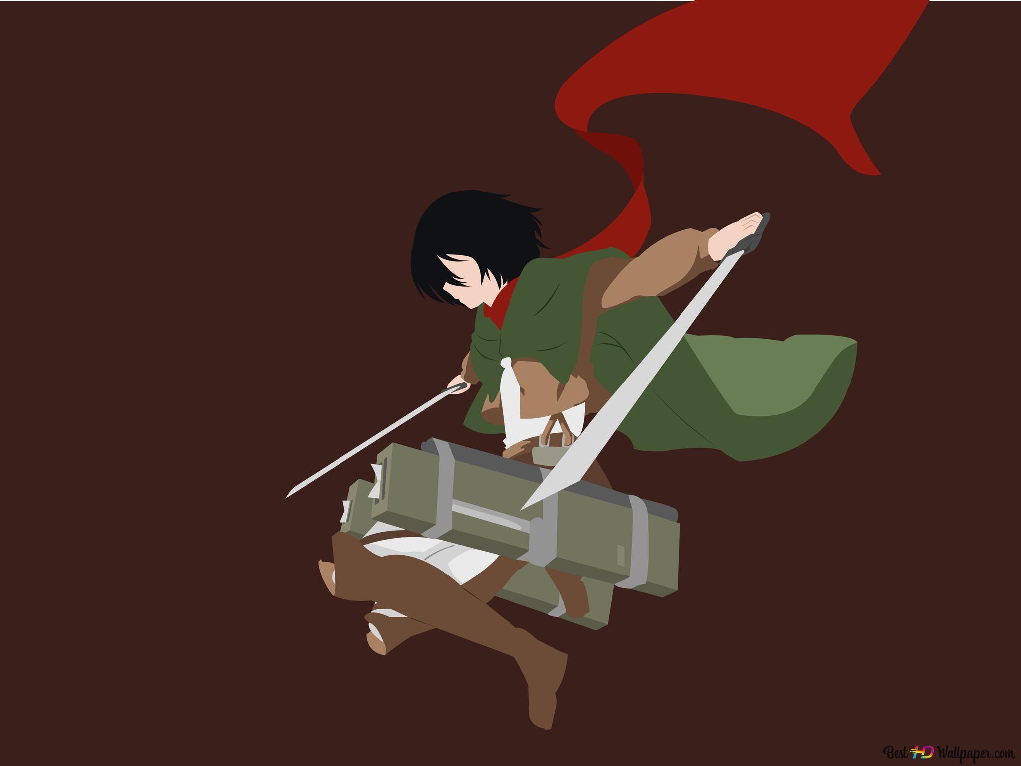Mikasa Ackerman Attack On Titan Hd Wallpaper Download