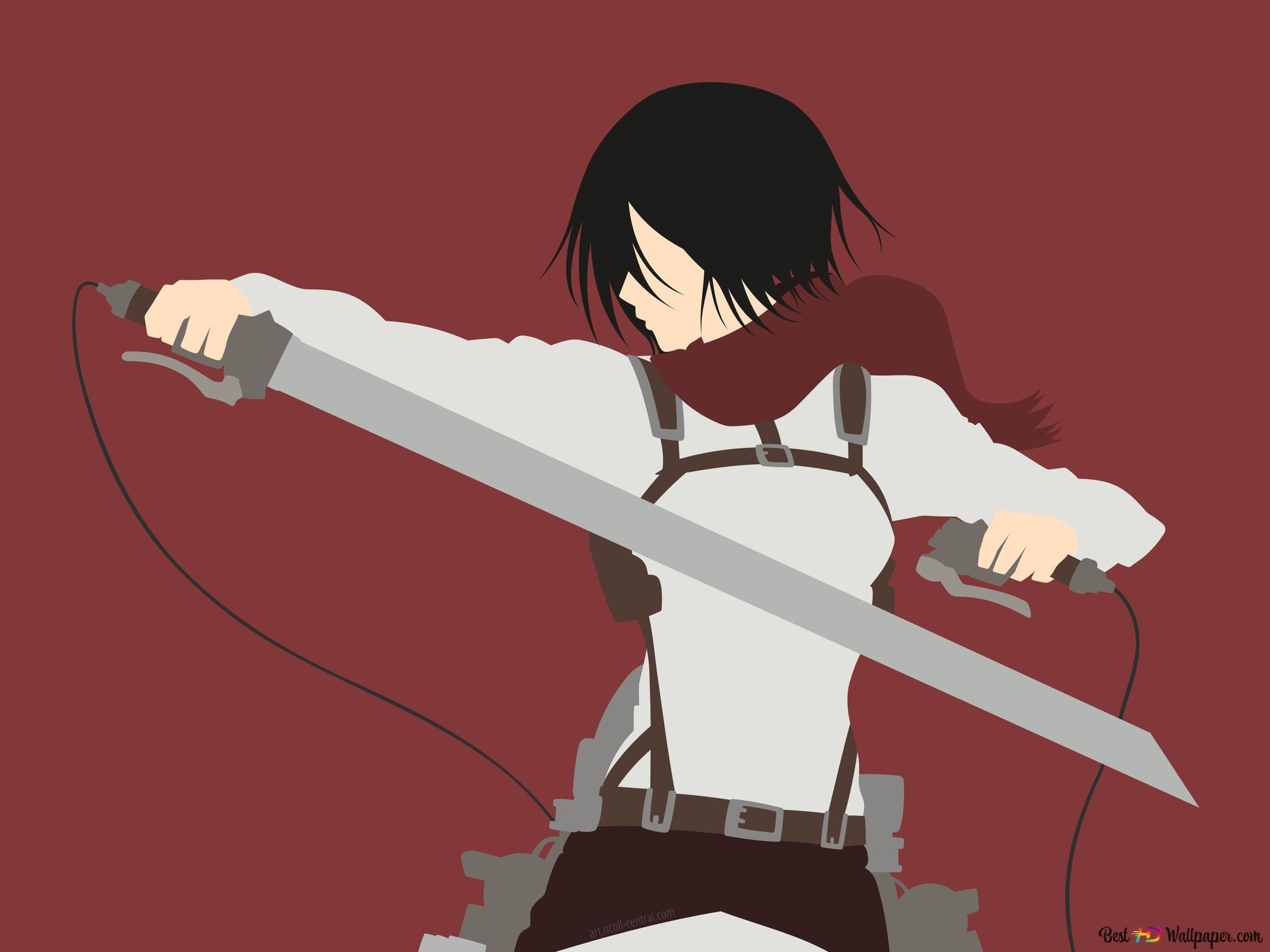 Mikasa Ackerman Of Attack Of Titan Hd Wallpaper Download