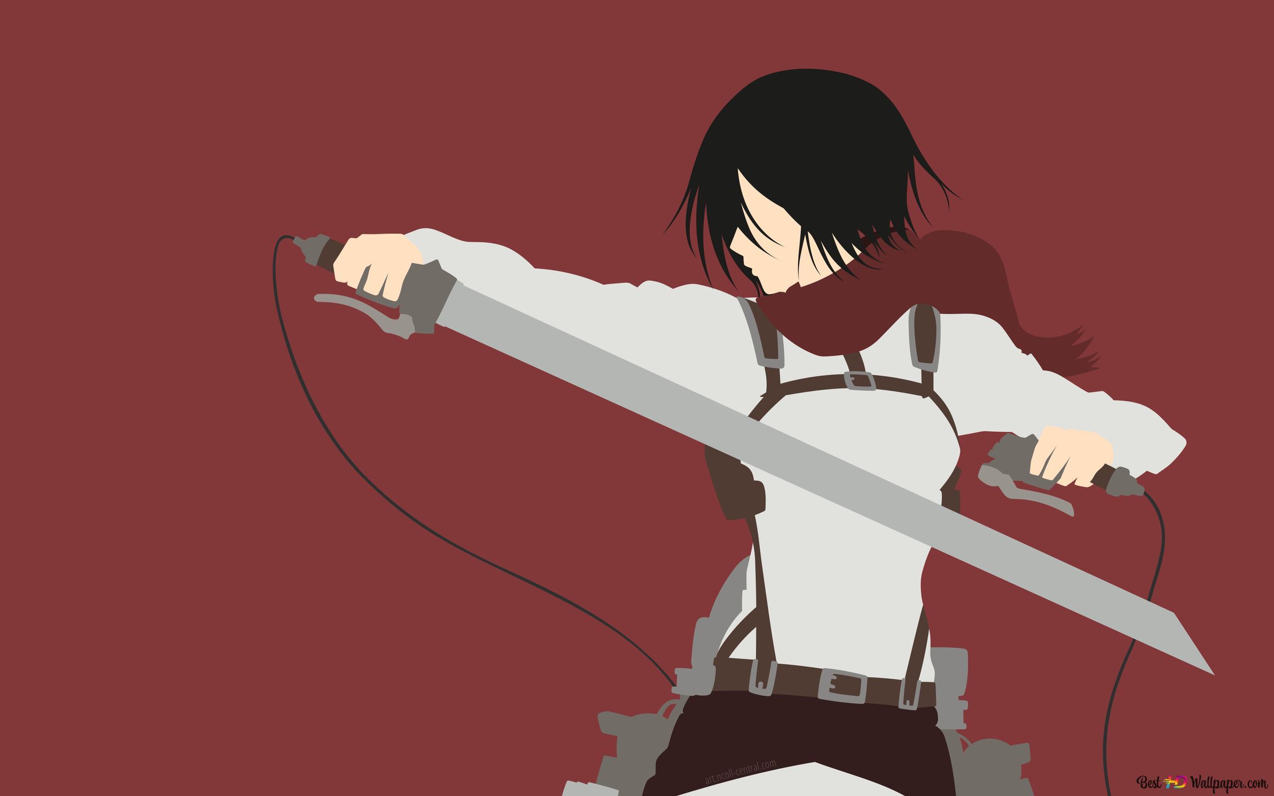 Mikasa Ackerman Von Attack Of Titan Hd Hintergrundbilder