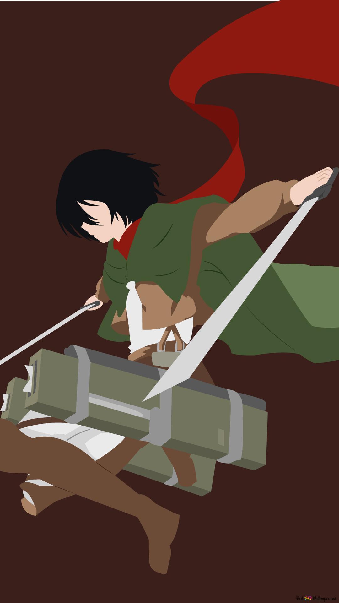Mikasa Ackerman Unduhan Wallpaper Hd