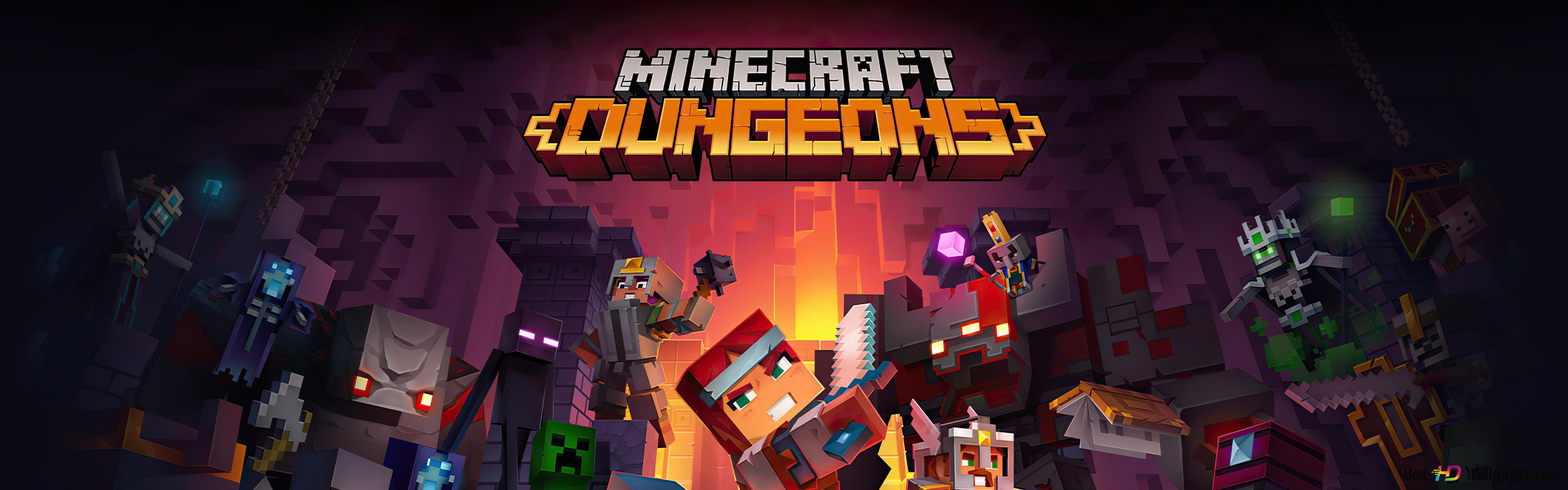 minecraft dungeons wallpaper 3840x1200 55529 62