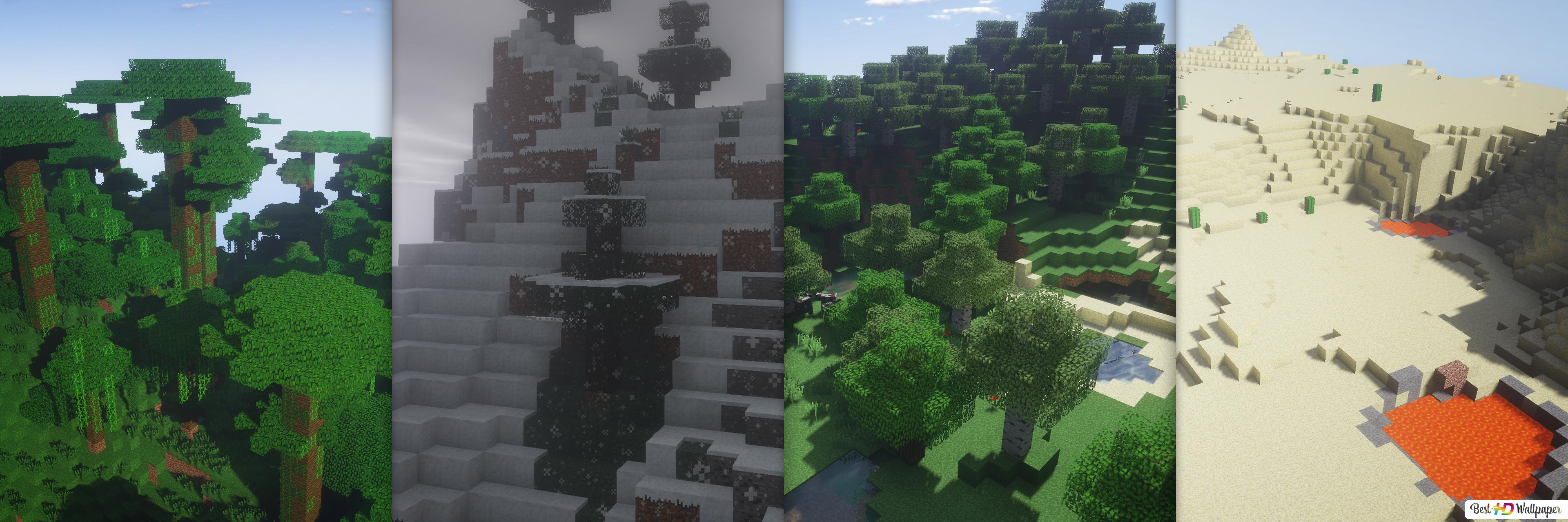 Minecraft Landscape Hd Wallpaper Download
