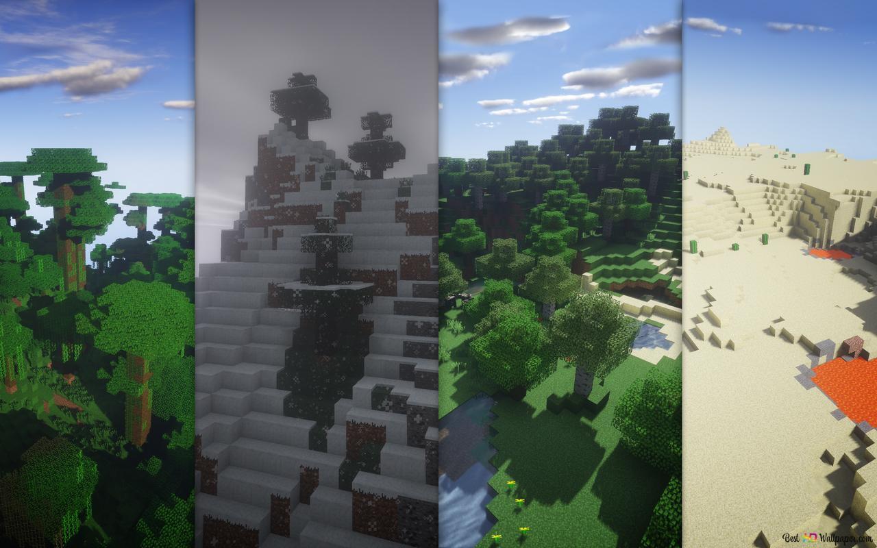 Minecraftの風景 Hd壁紙のダウンロード