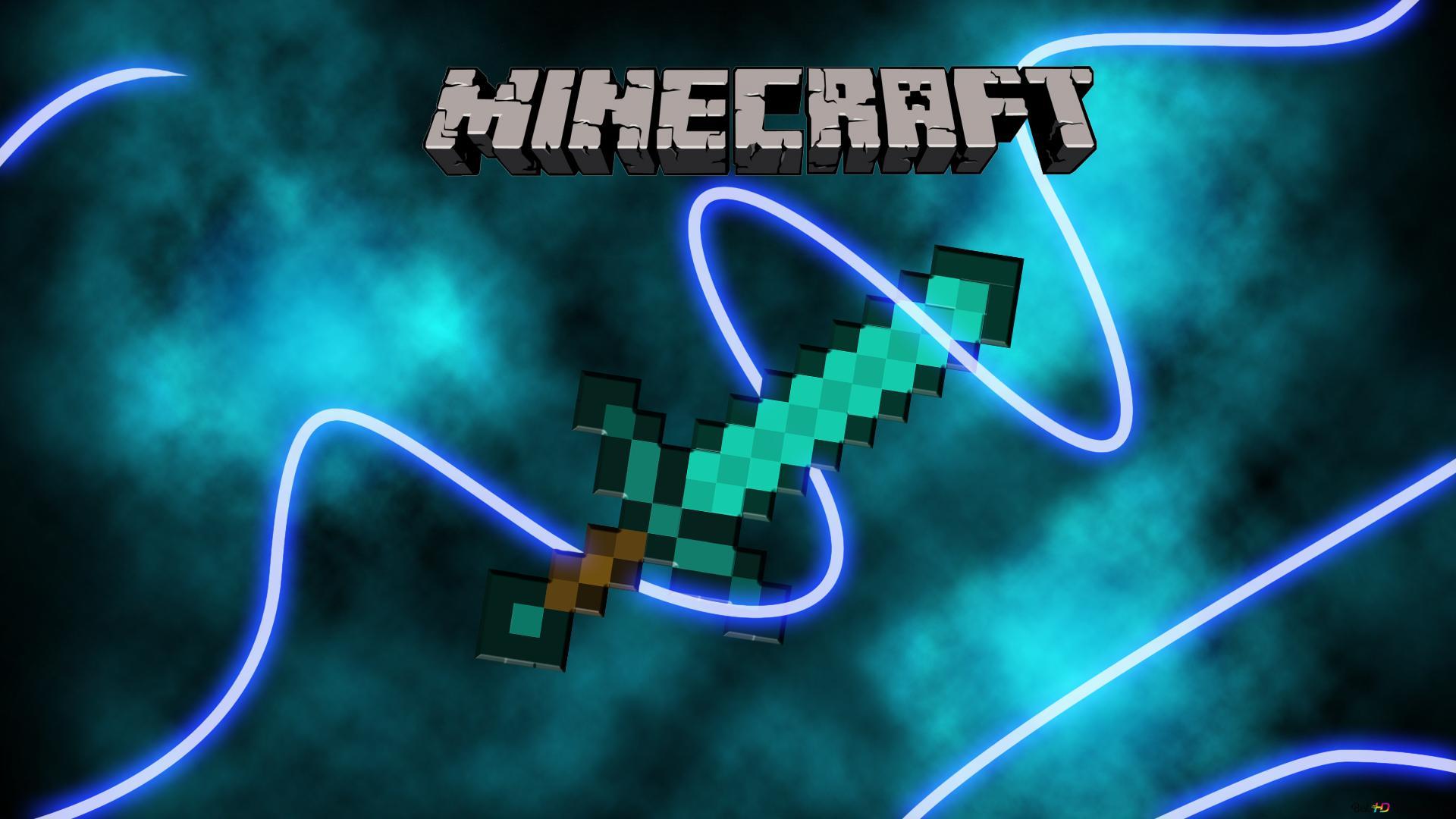 Minecraftの雷の剣 Hd壁紙のダウンロード