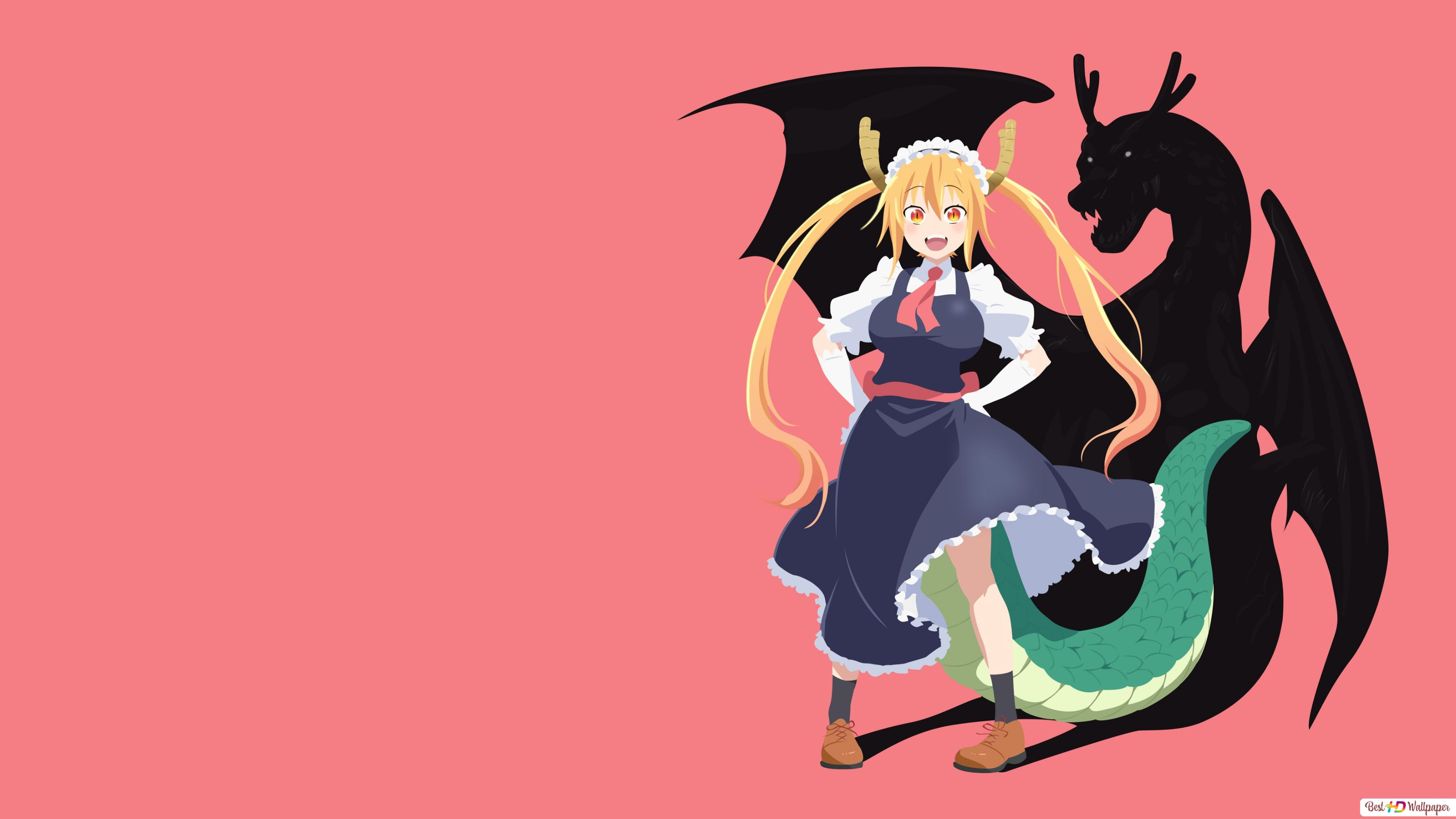 Miss Kobayashi S Dragon Maid Tohru Vector Hd Wallpaper Download
