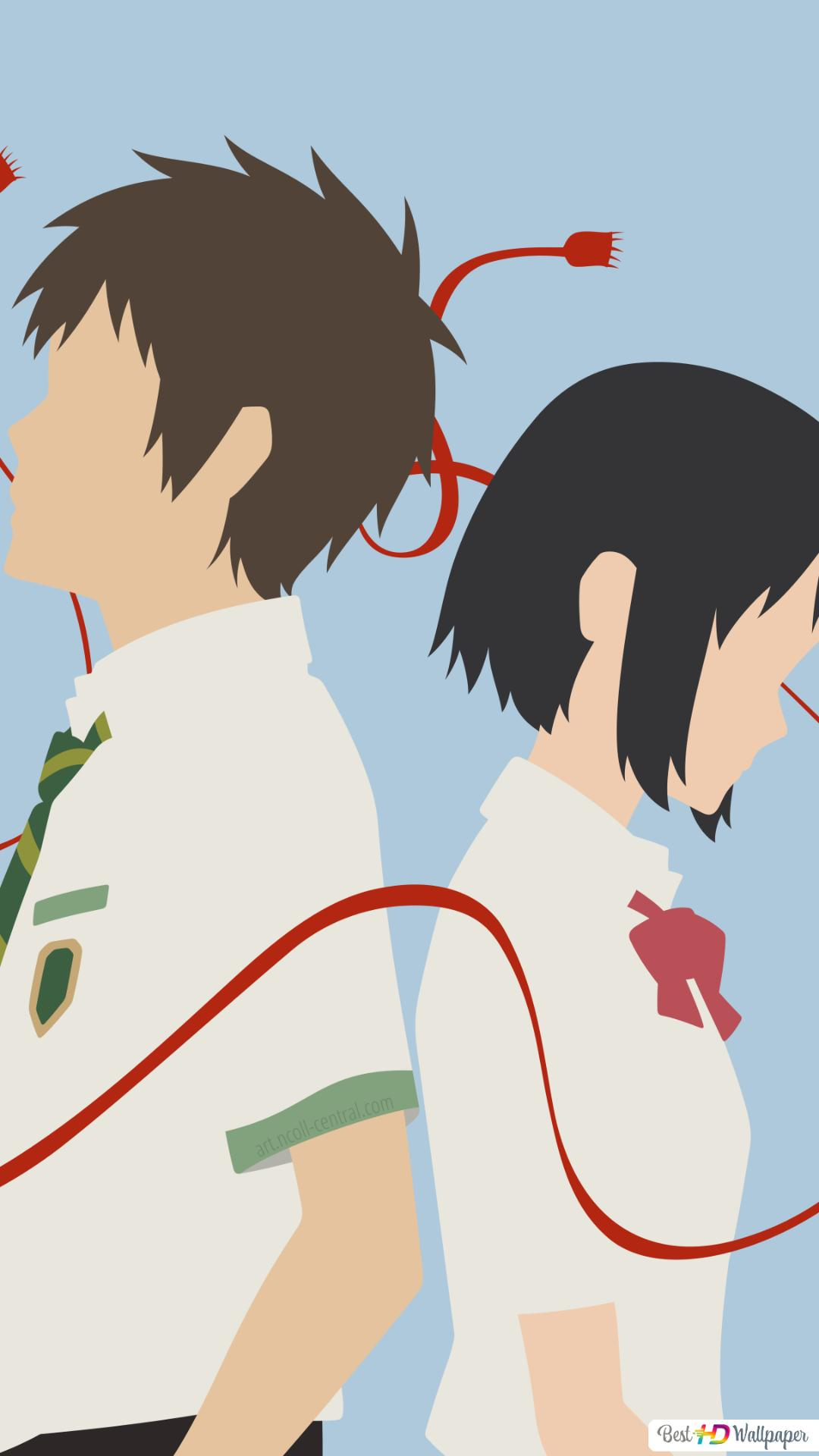 Mitsuha Miyamizu And Taki Tachibana In Your Name Hd Wallpaper Download
