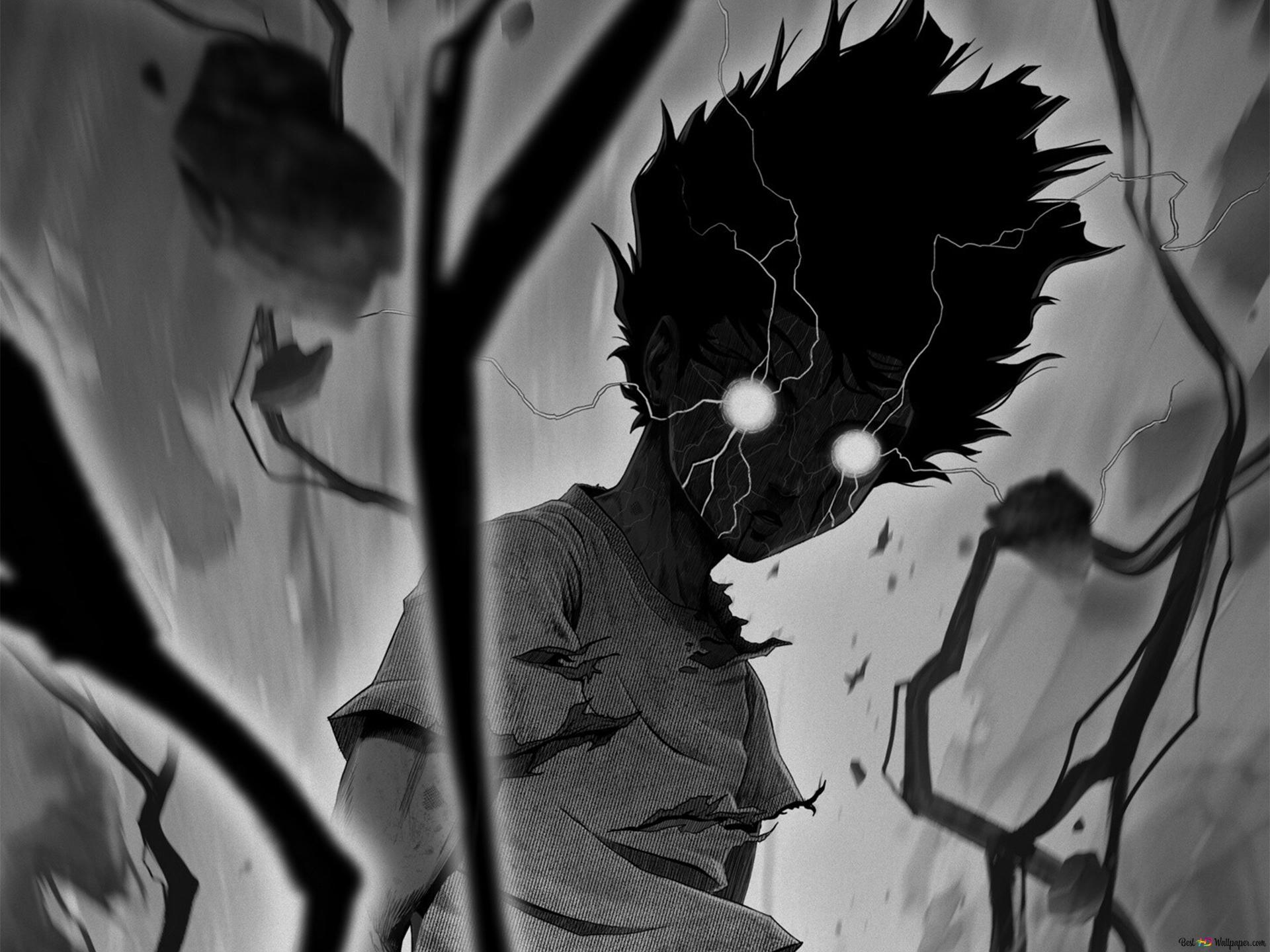 Mob Psycho 100 Shigeo Kageyama White T Poison Hd Wallpaper