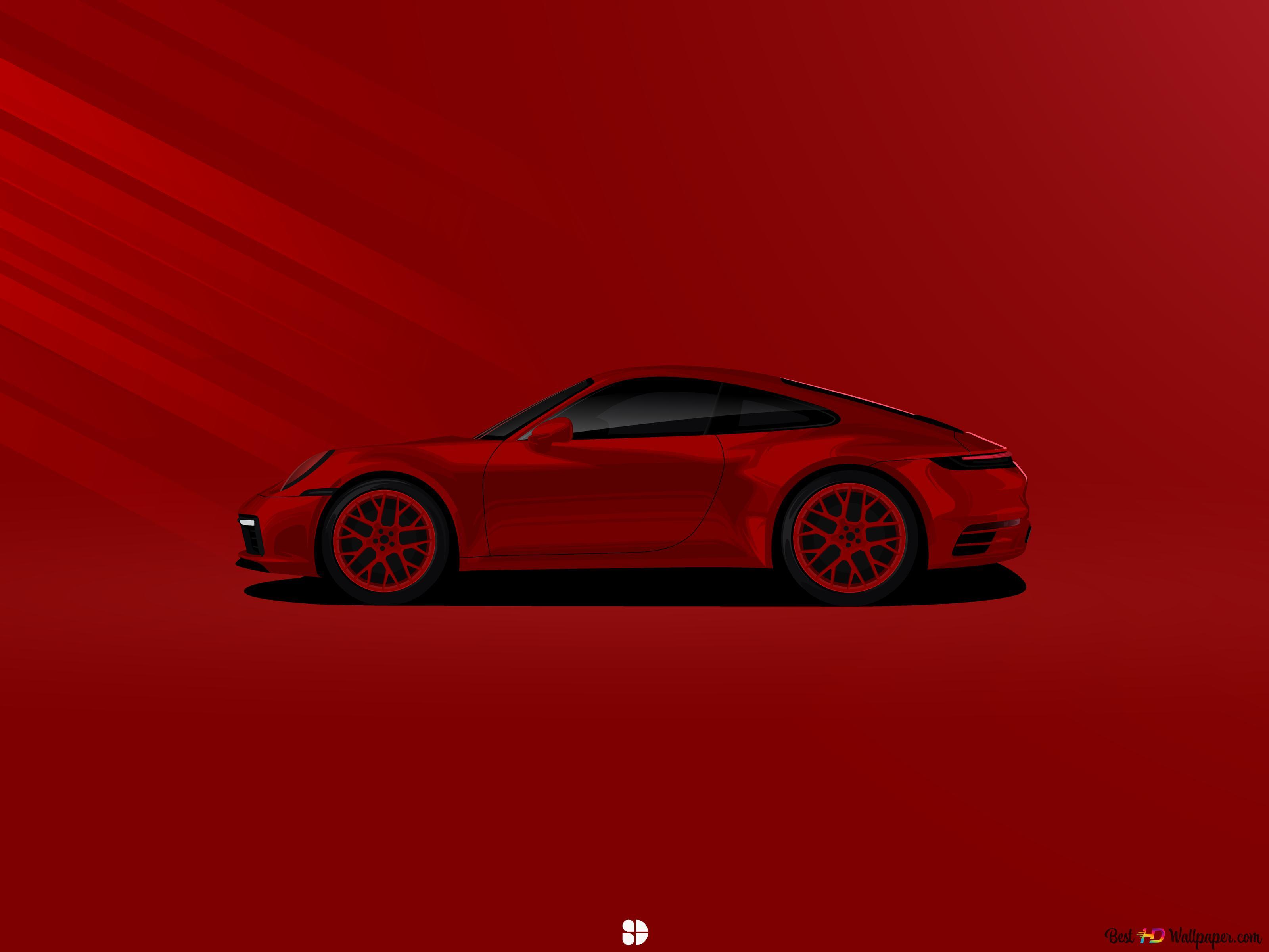 mobil sport porsche merah bersinar wallpaper 3200x2400 55157 29