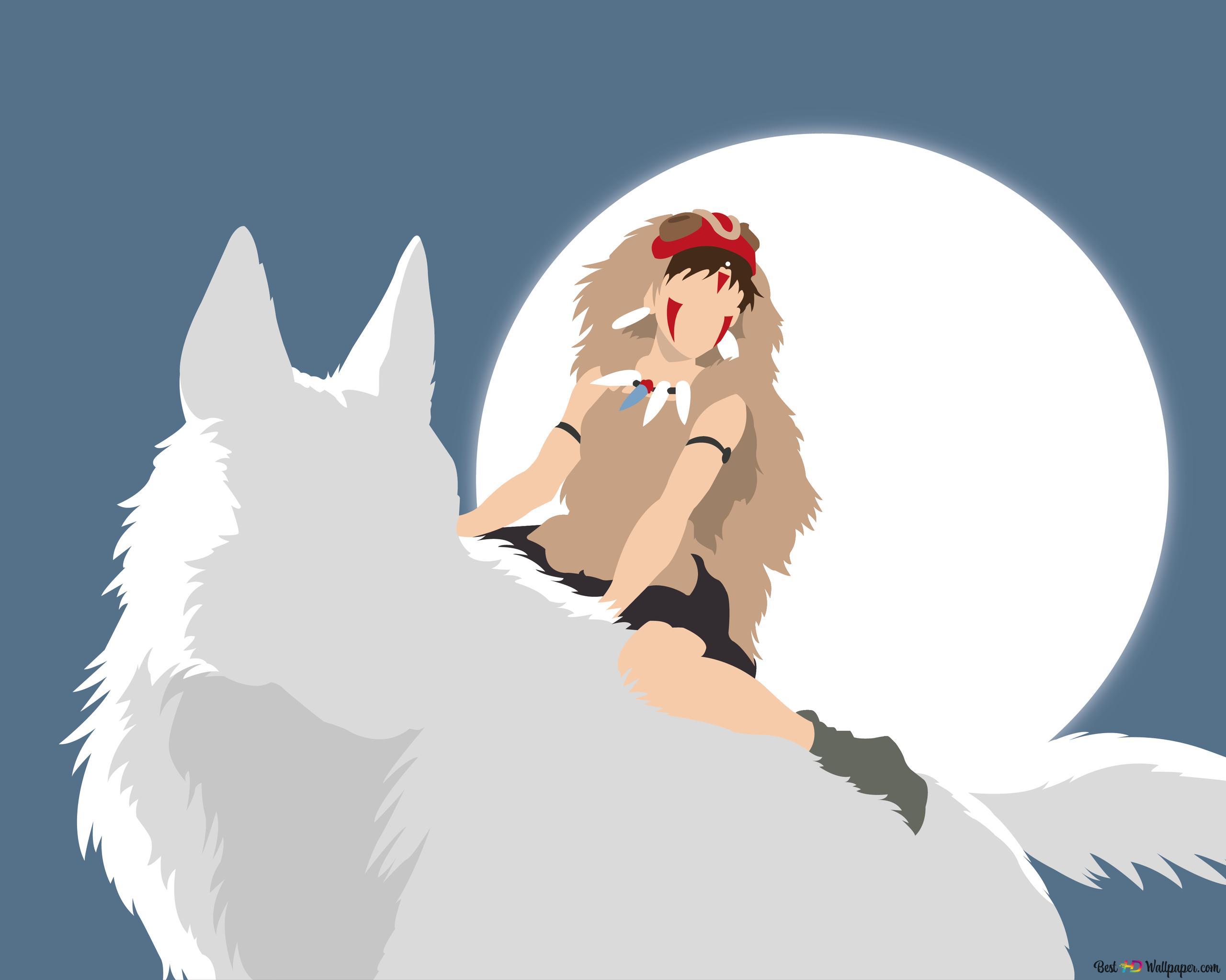 もののけ姫とモロ Hd壁紙のダウンロード