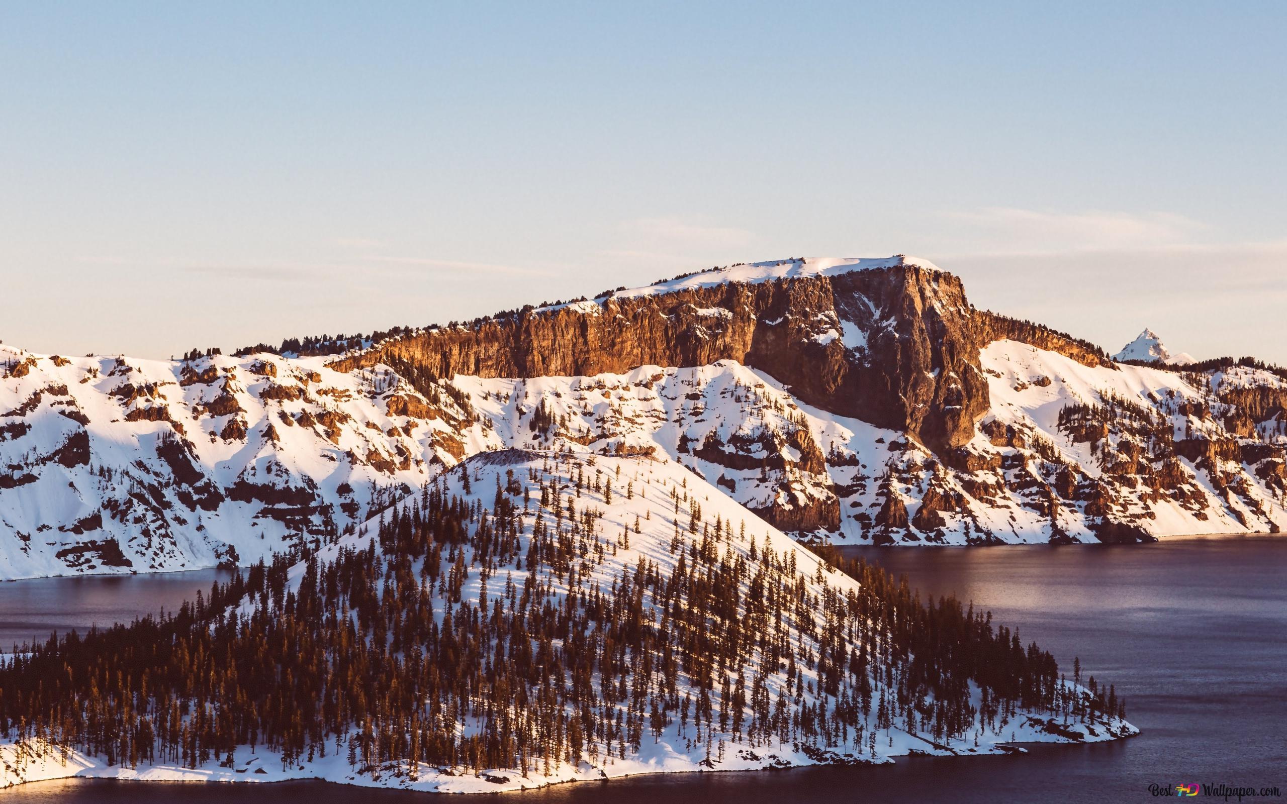 Montagna Coperta Di Neve Download Di Sfondi Hd